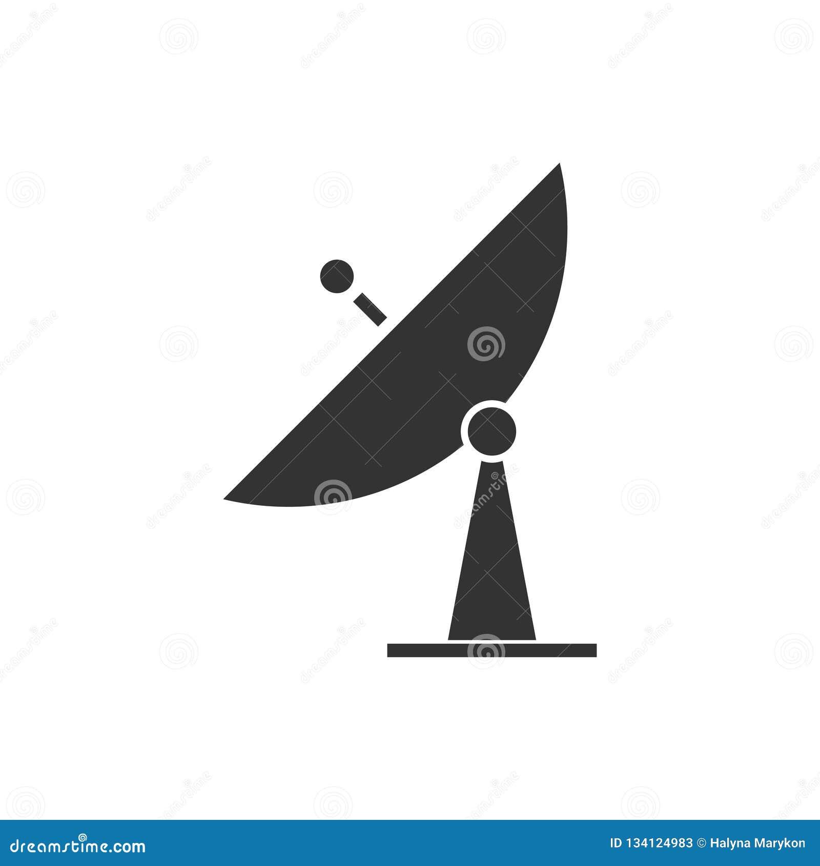 Plano do ícone da televisão satélite