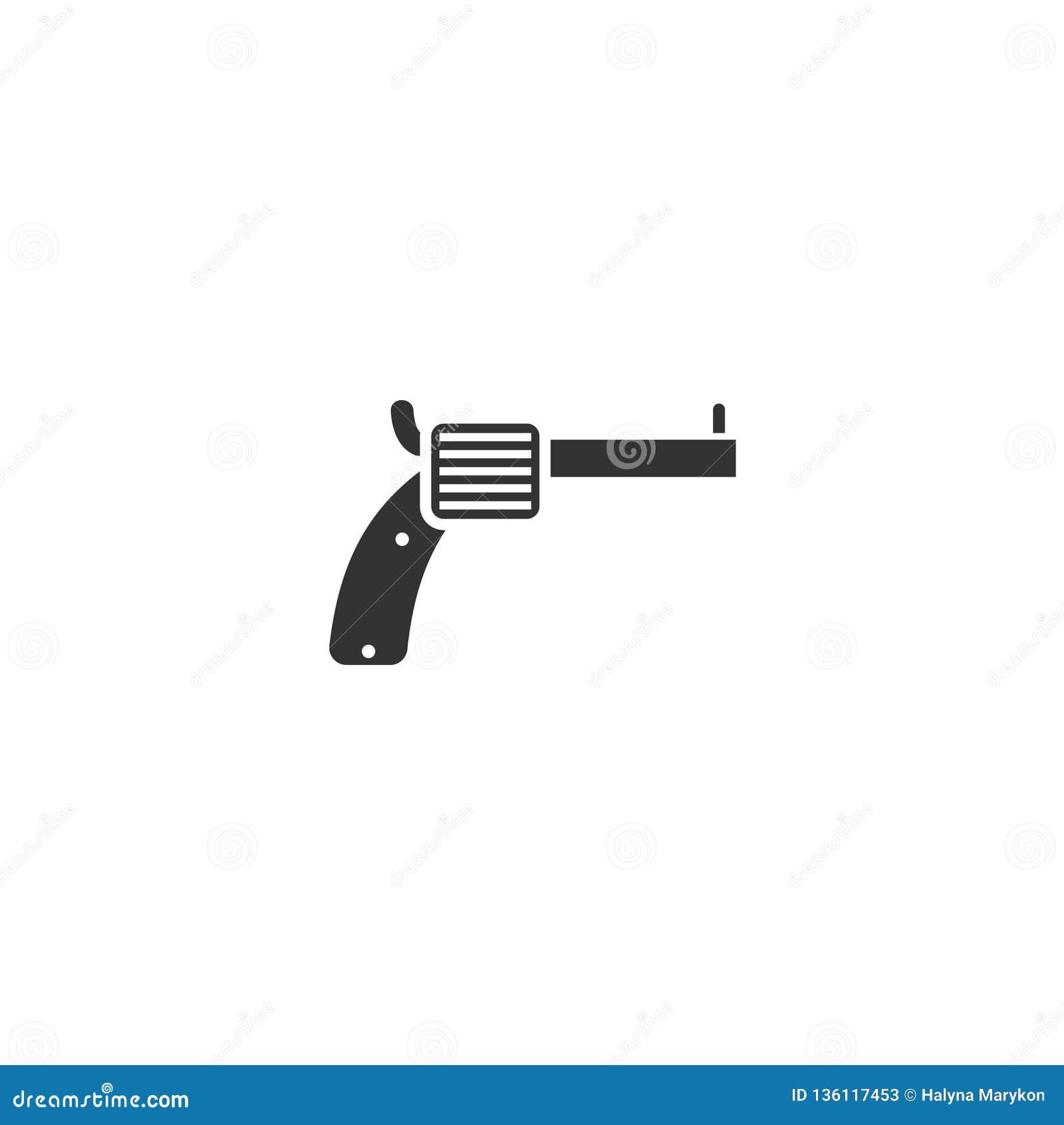 Plano do ícone do revólver