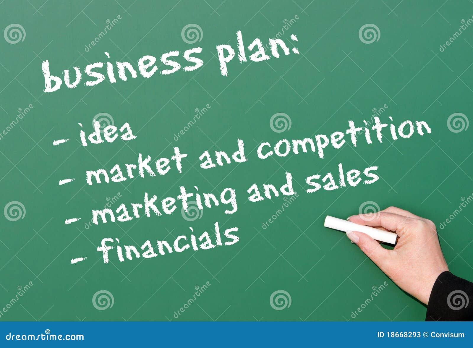 Plano empresarial no quadro
