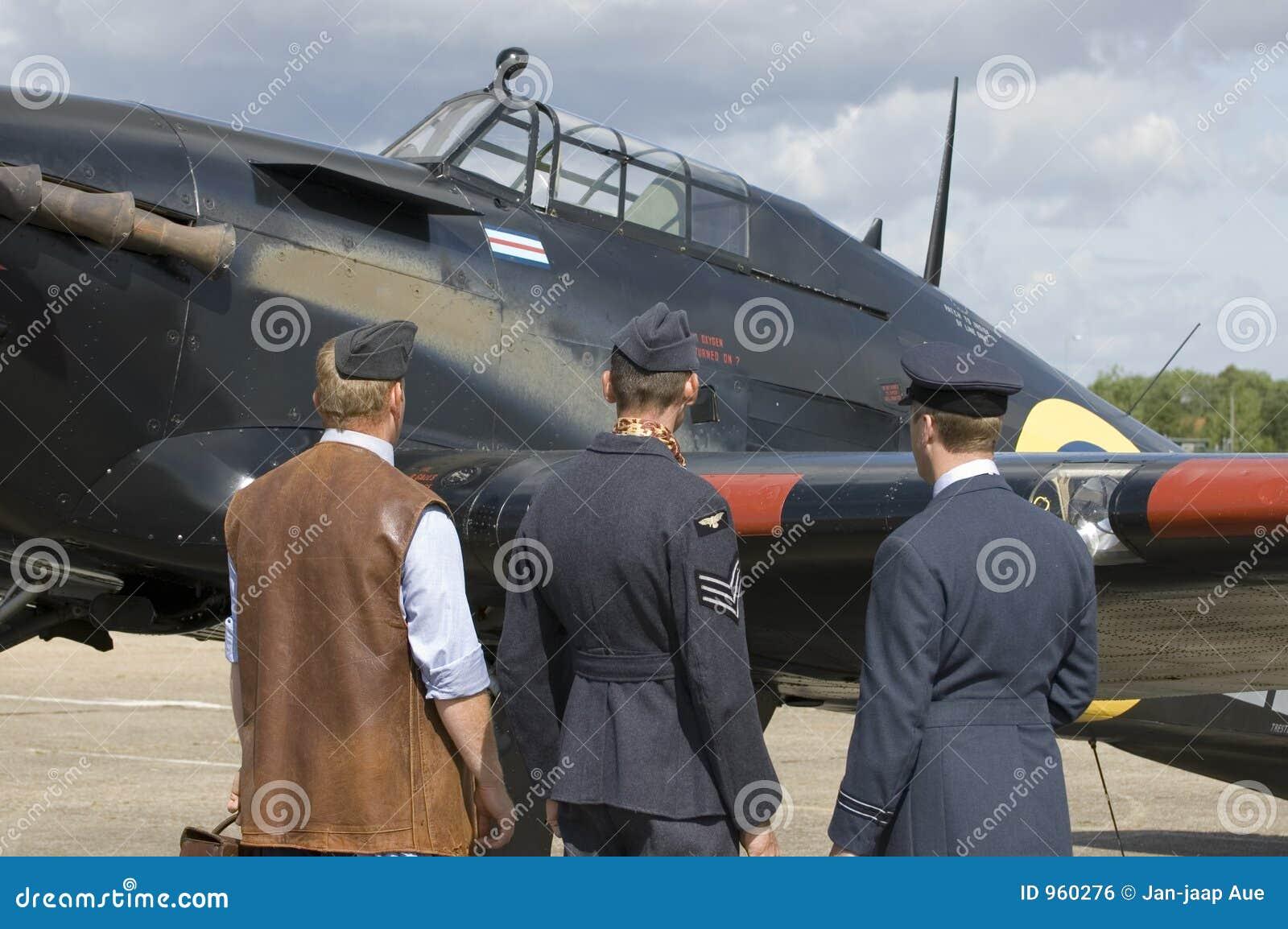 Planos de WWII en el airshow de Duxford