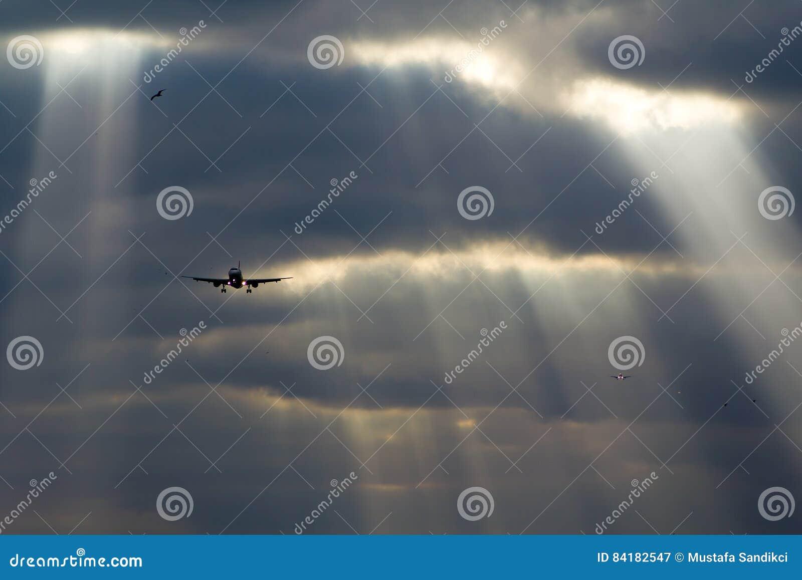 Planos que aterram o céu perfeito