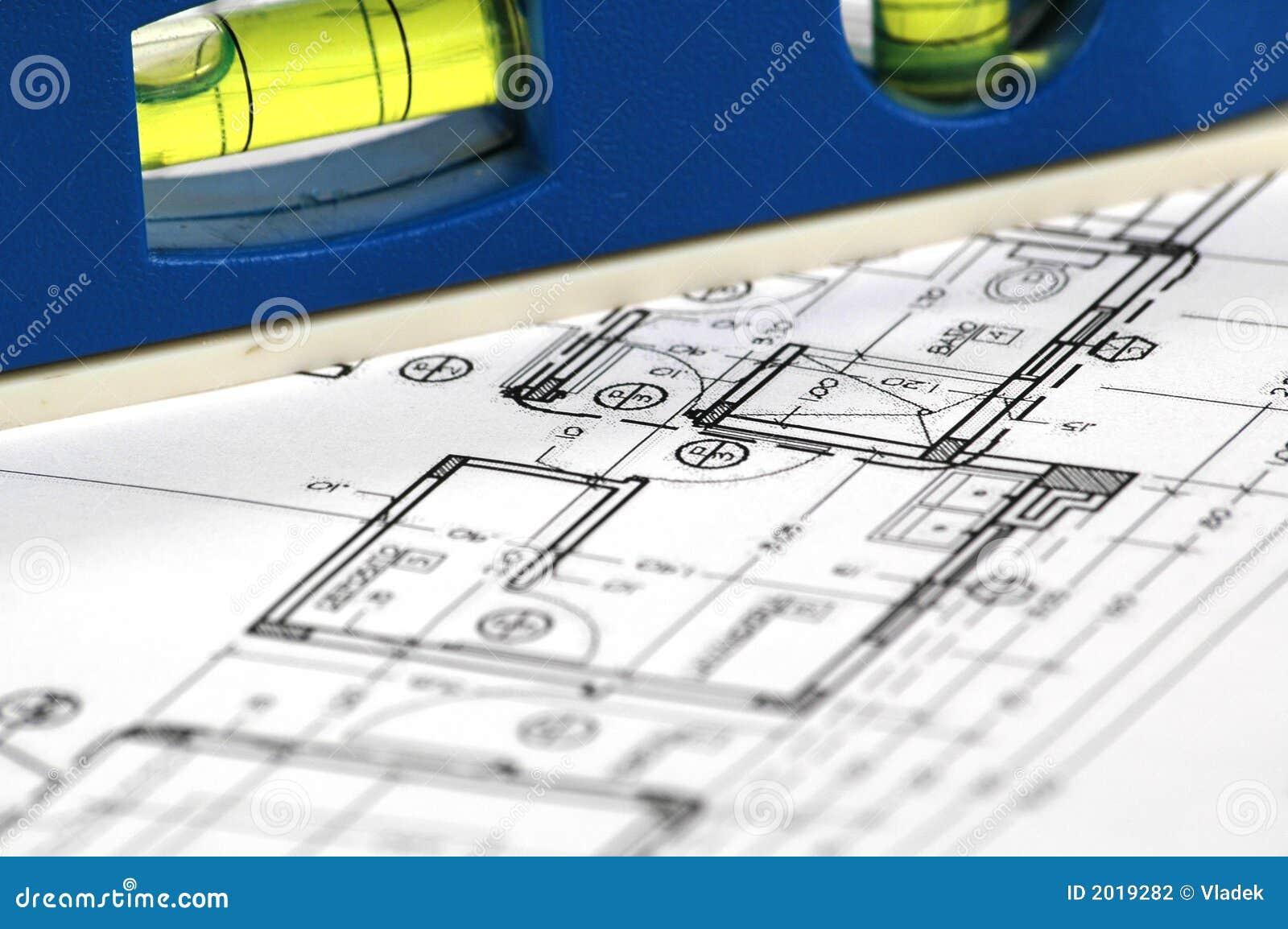 Plans architecturaux à la maison