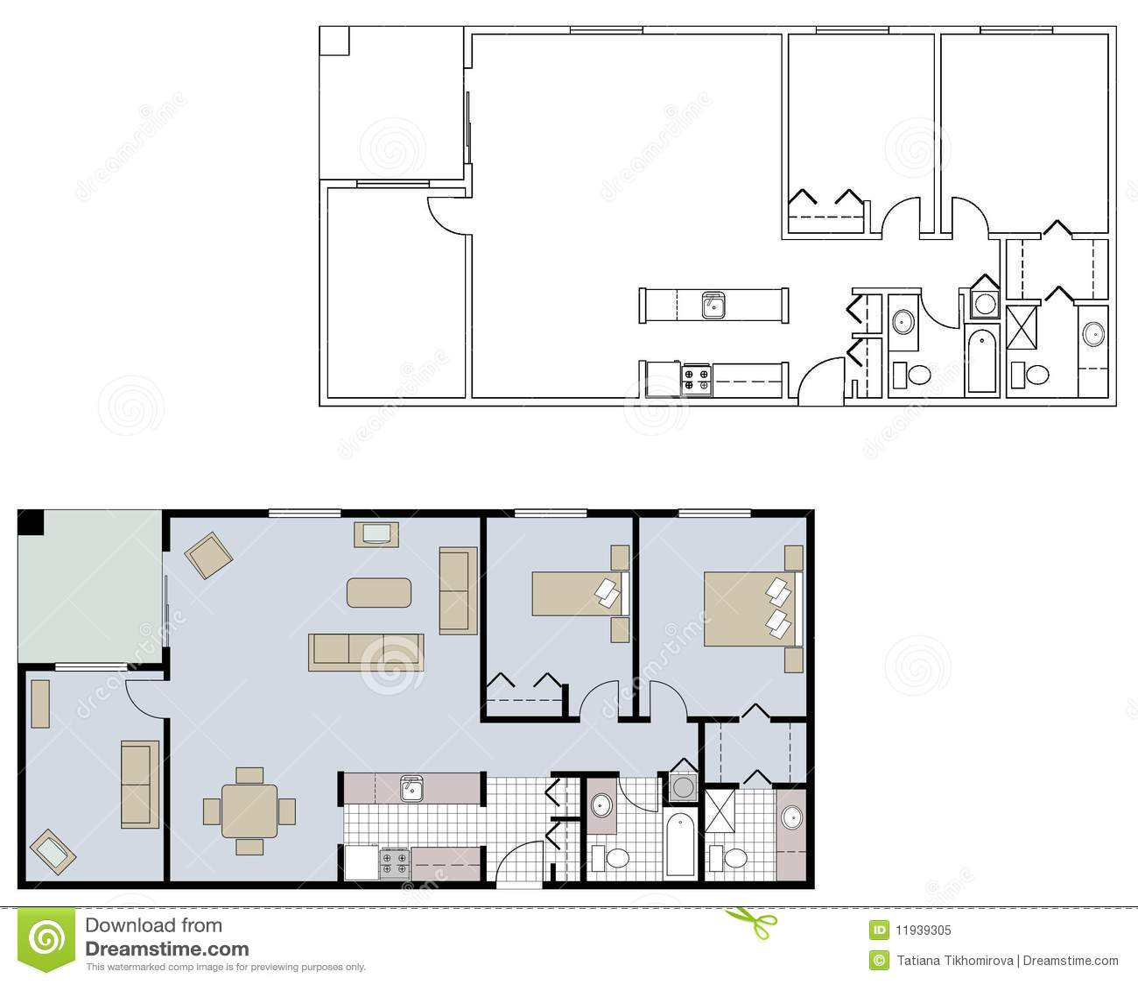 Plans d étage architecturaux