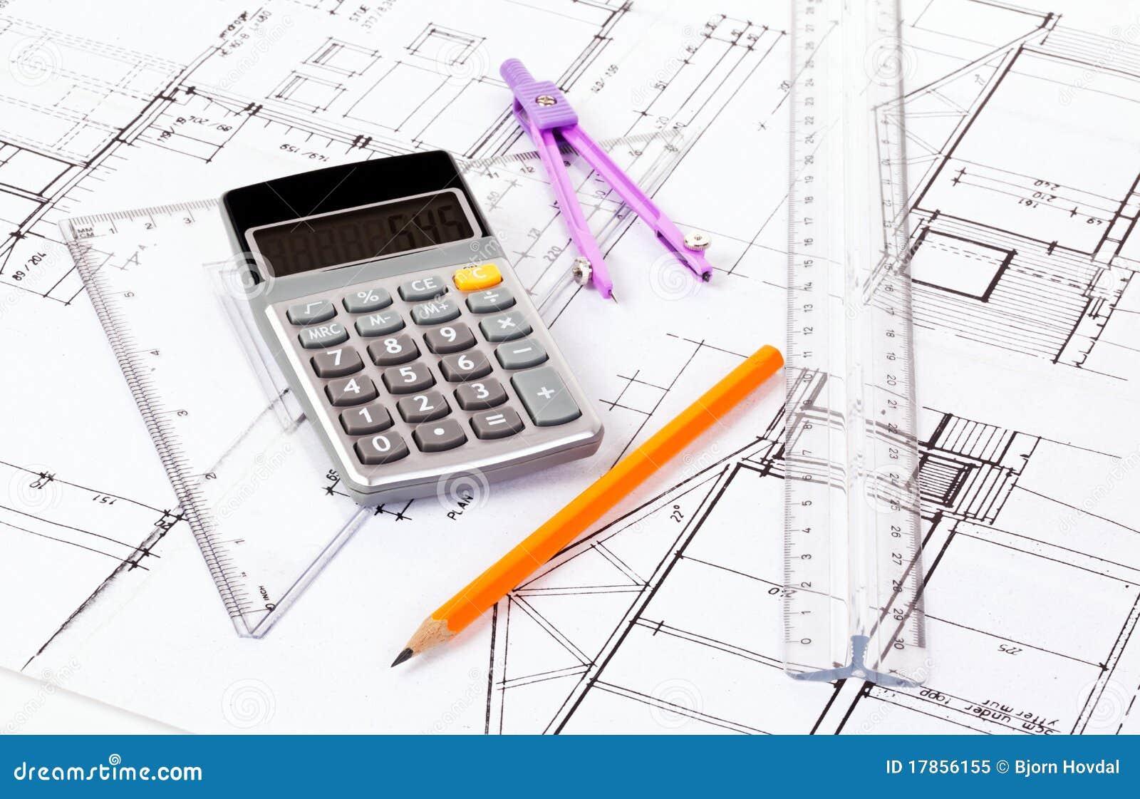 Plans d 39 architecte image stock image du dessin concept for Plan architecte