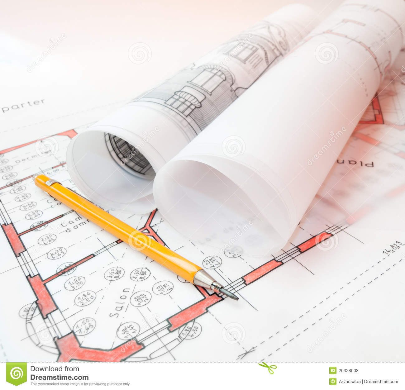 Plans d 39 architecture photo stock image du plans for Plan d architecture