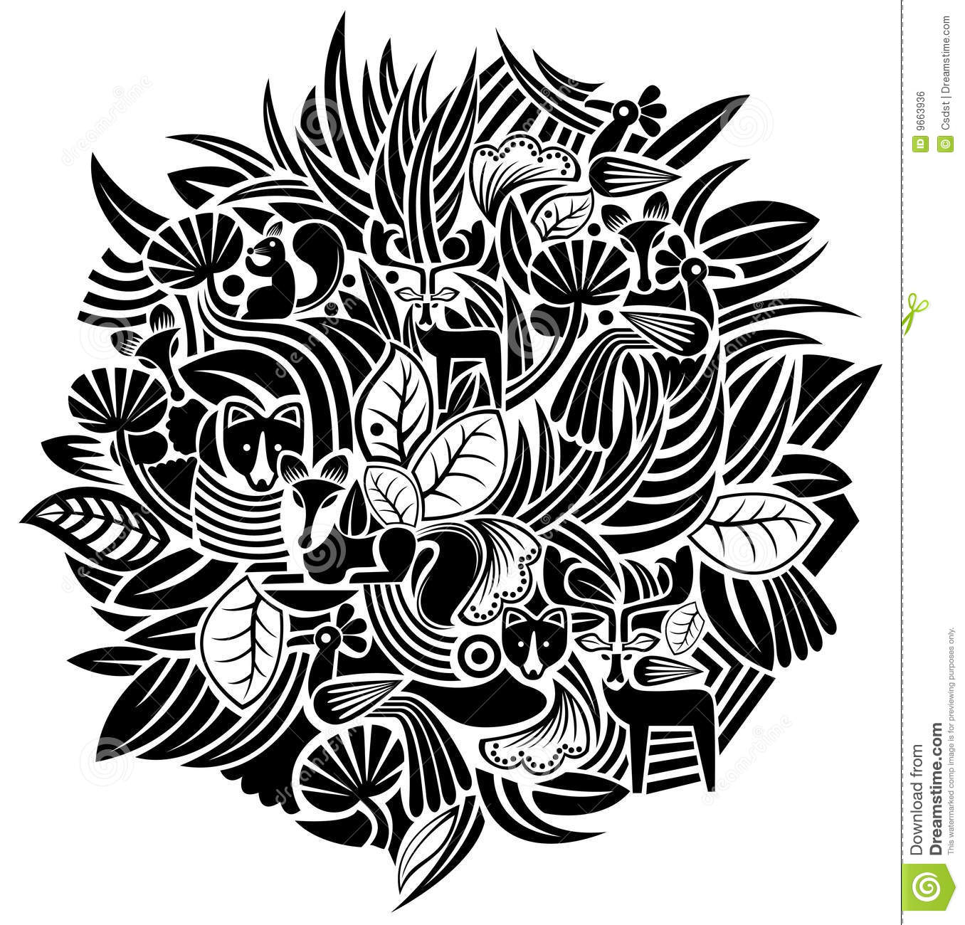 Plant And Animal Pattern Royalty Free Stock Image - Image ...