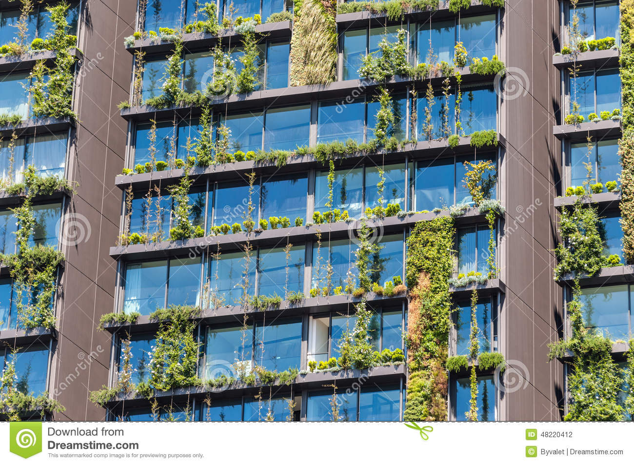 Garden Wall Facade : Plant facade vertical garden stock photo image of