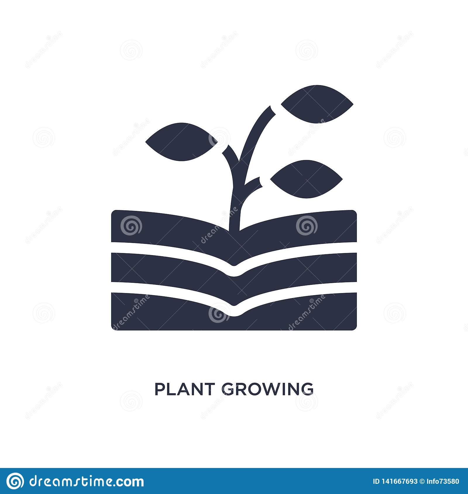 plant growing on book icon on white background. Simple element illustration from nature concept