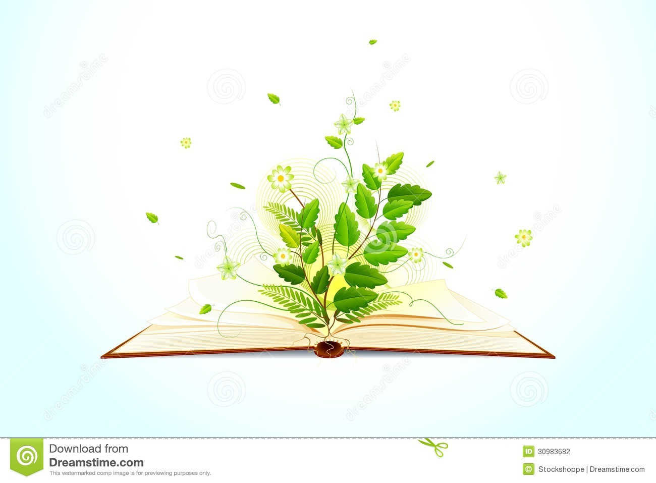 Plant Growing On Open Book Stock Photography - Image: 30983682