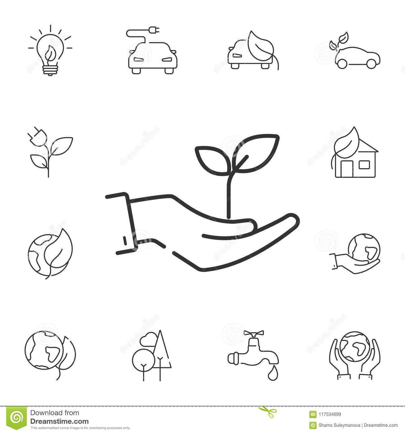 Plant In Hand Icon Simple Element Illustration Plant In Hand