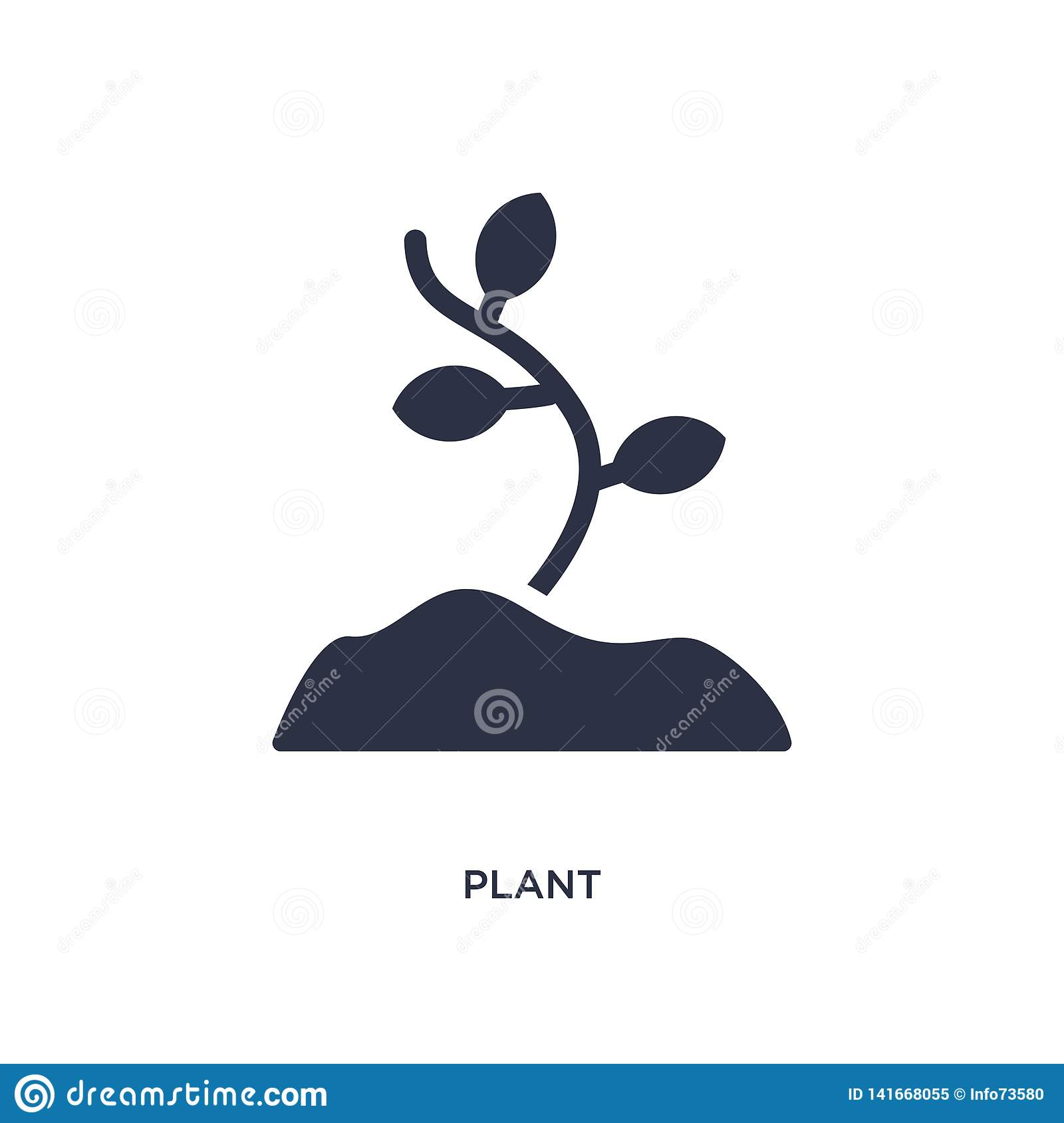plant icon on white background. Simple element illustration from stone age concept
