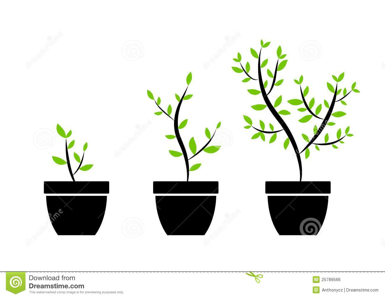 Plant Icons Royalty Free Stock Image - Image: 25789566