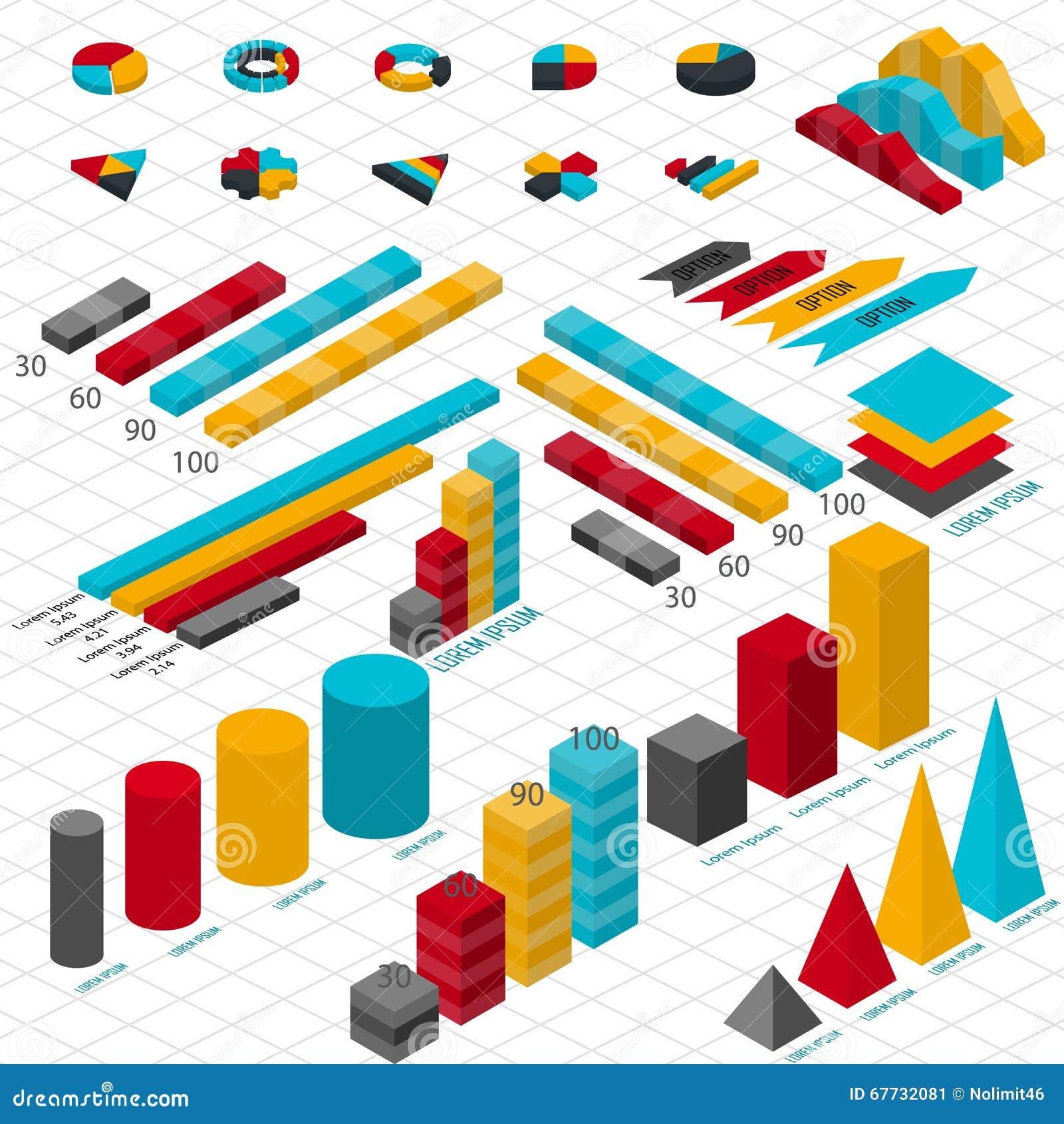 Plant isometriskt infographic 3d för dina affärspresentationer