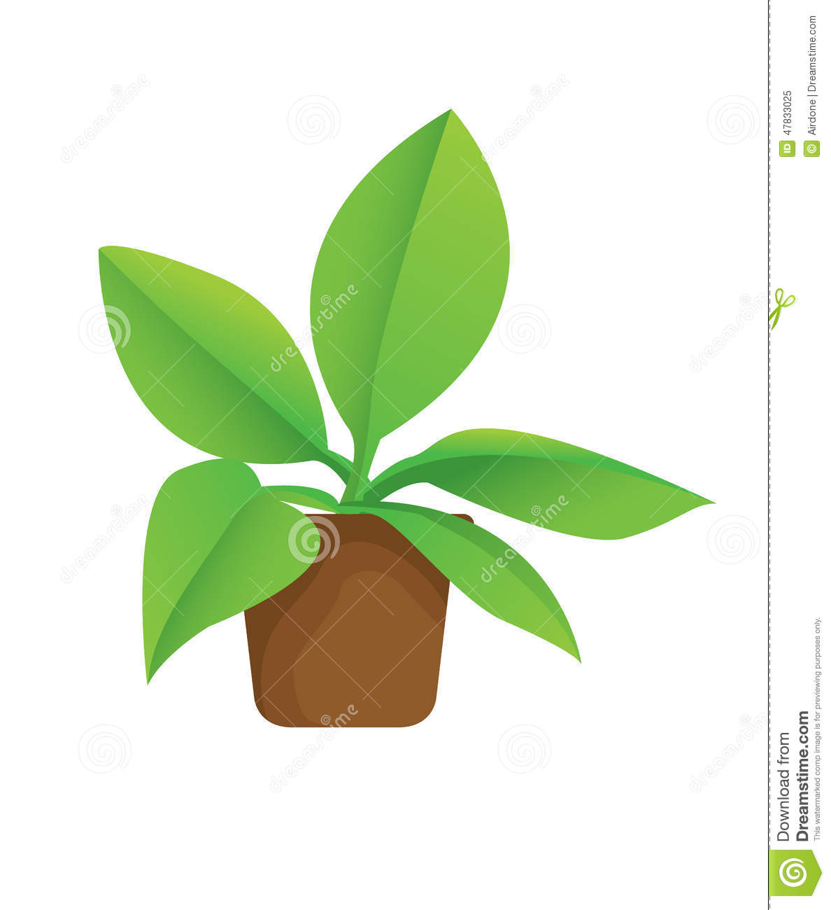 How To Read A House Plan Plant In Pot Stock Vector Image 47833025