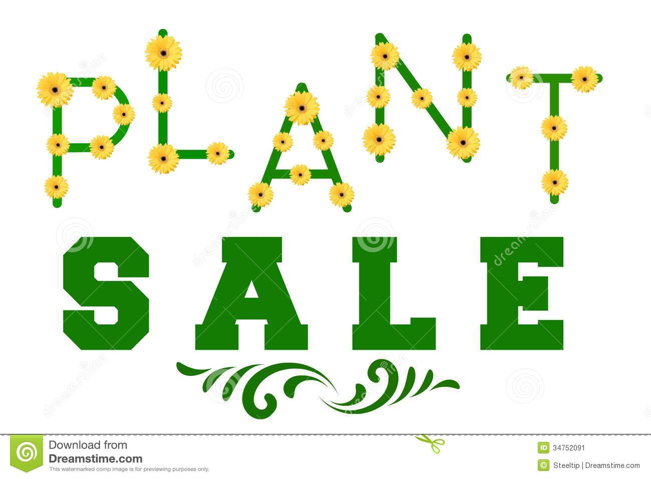 Plant sale sign stock image image 34752091
