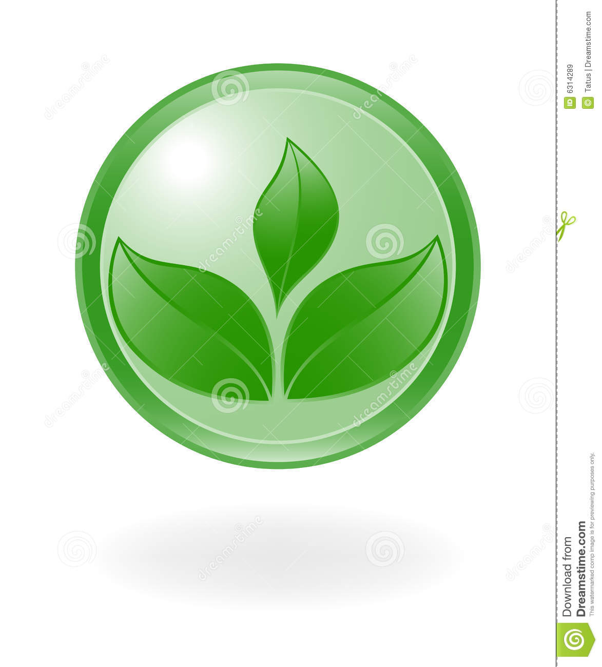 Plant Symbol. Royalty Free Stock Images - Image: 6314289