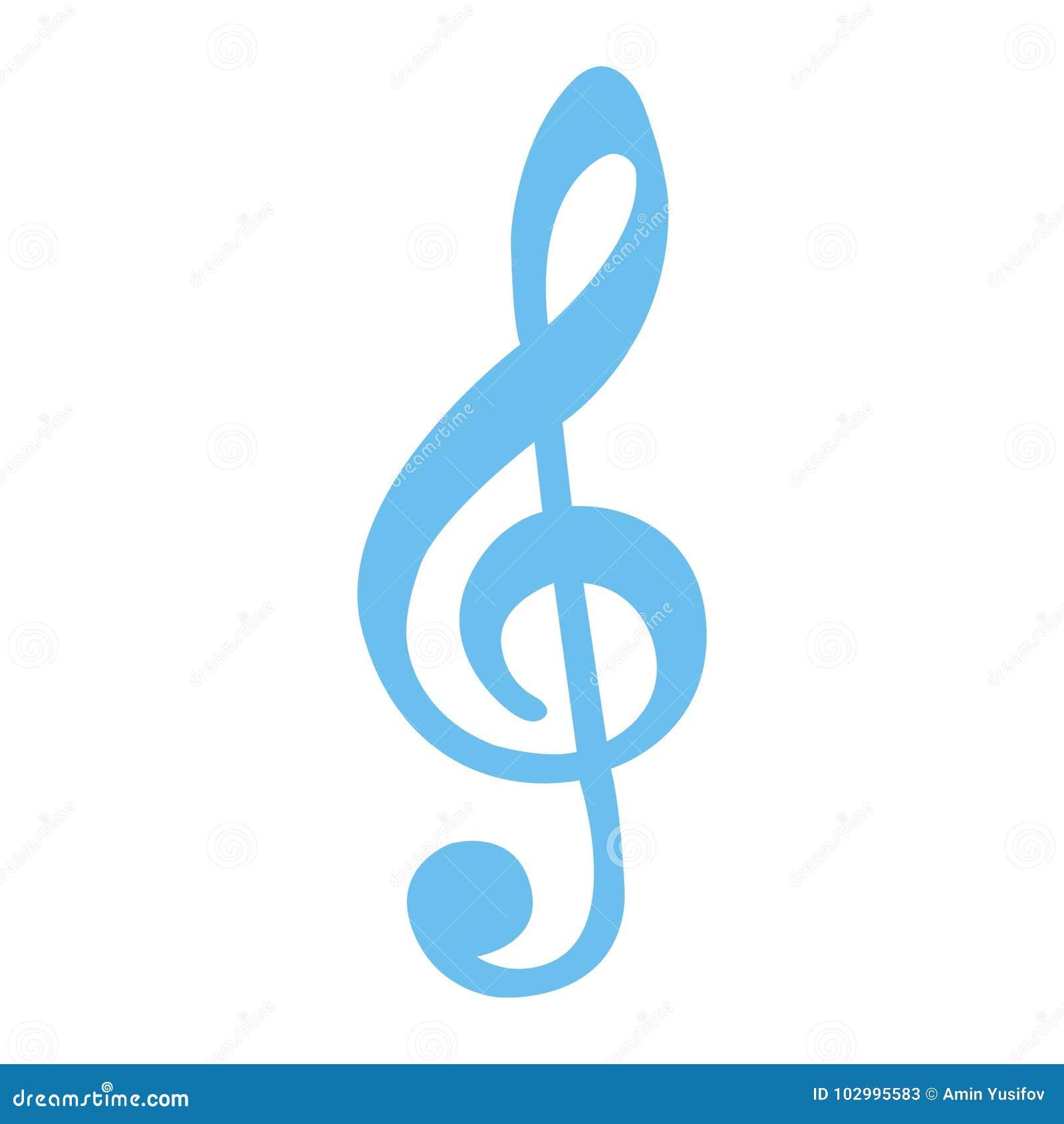 Plant symbol, musik och instrument för G-klav