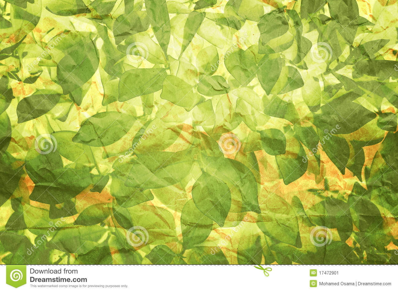 Plant Texture On Old Paper