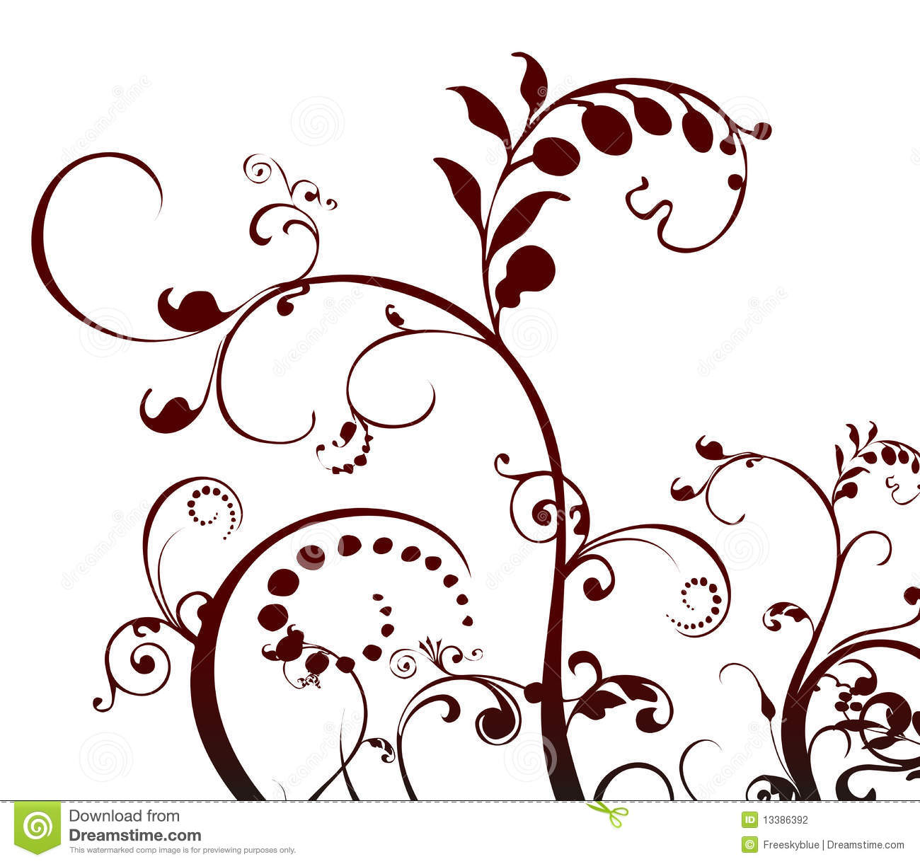 Plant And Vines Pattern Stock Photography - Image: 13386392