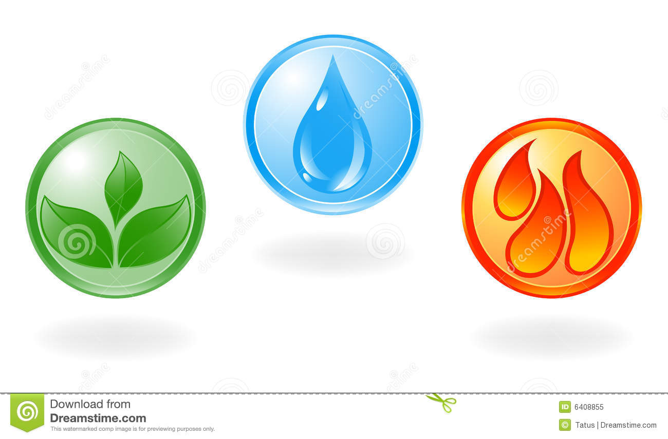 Plant water and fire symbol stock vector illustration of plant water and fire symbol biocorpaavc Choice Image