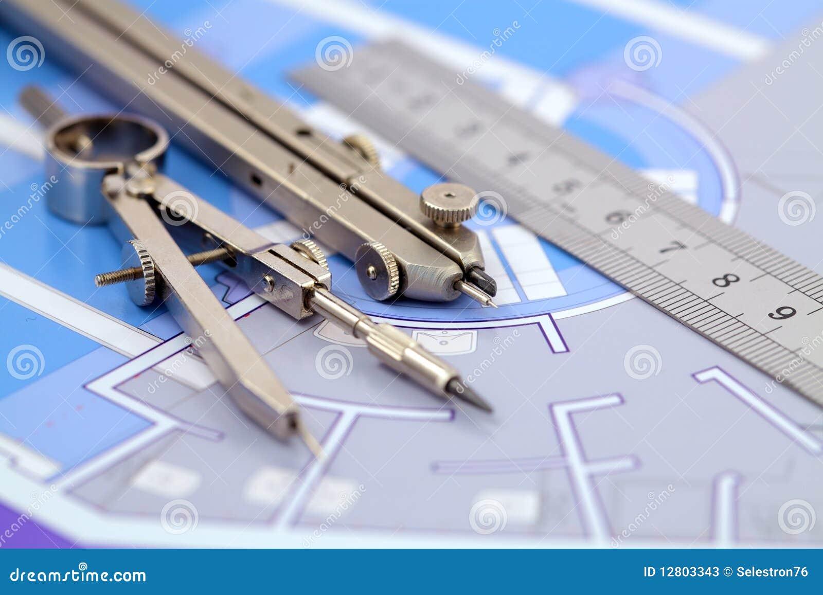 Planta & ferramentas da arquitetura