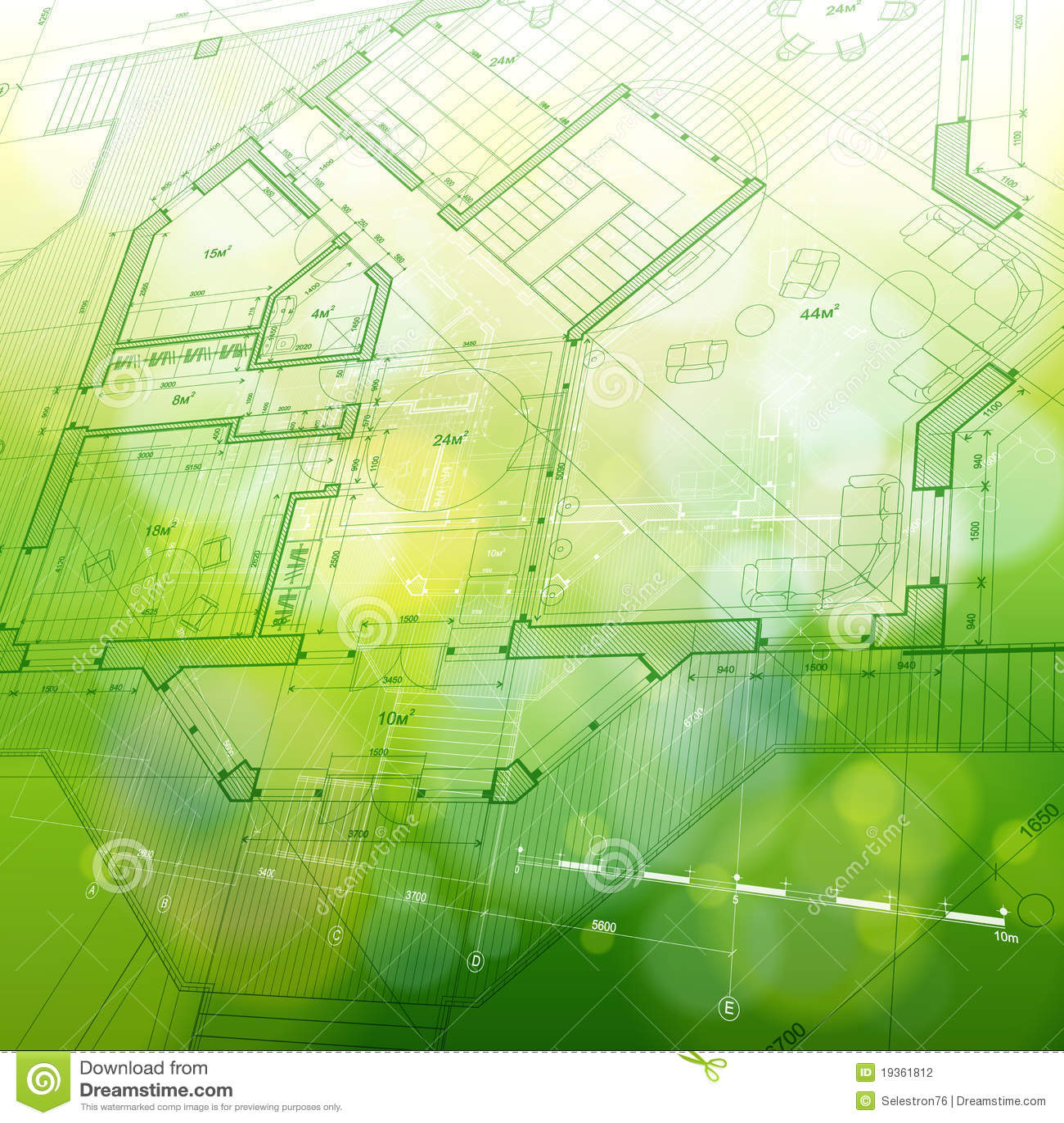 Planta da casa: modelo do vetor