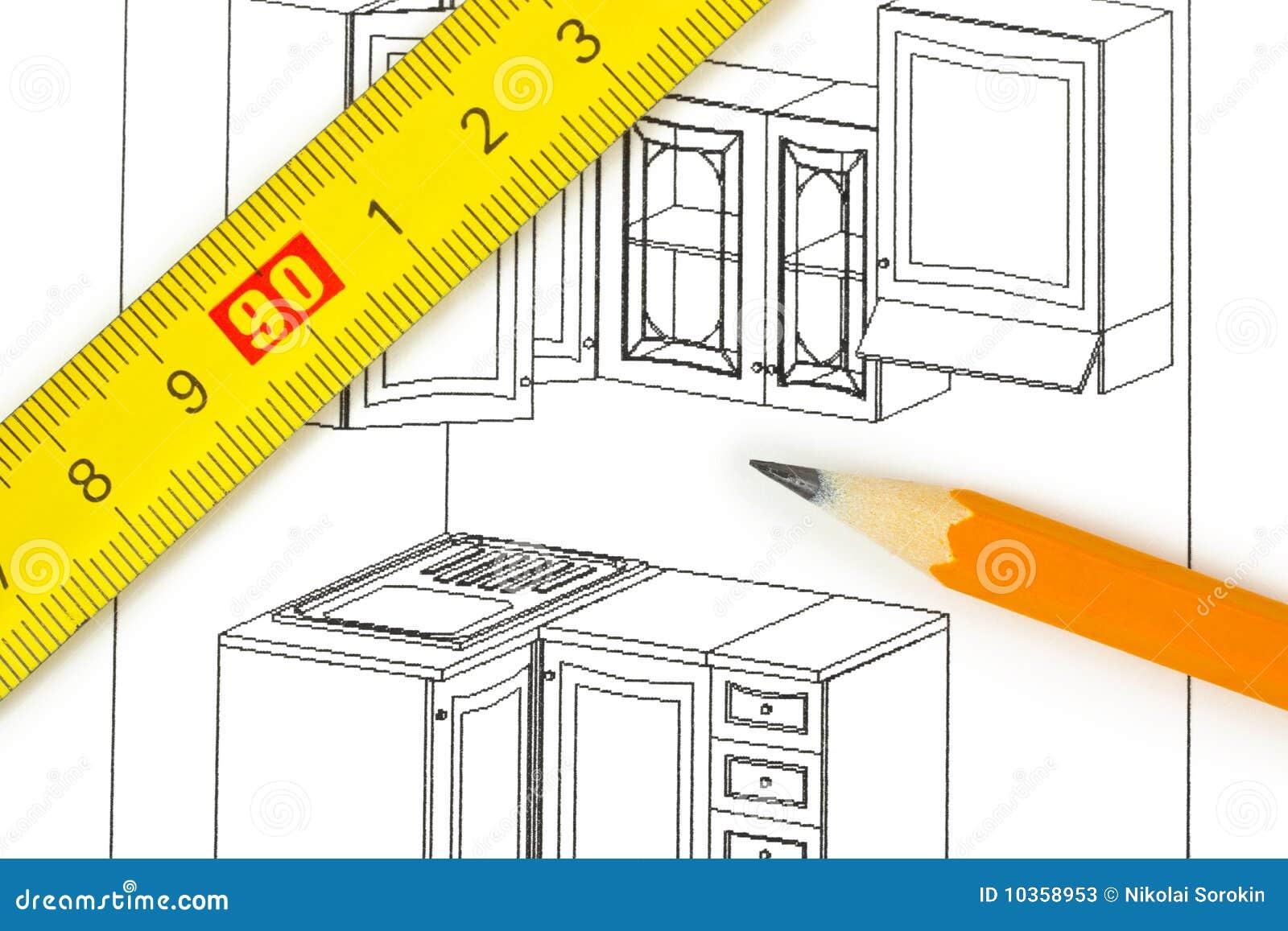 Planta Da Cozinha Fotos de Stock Imagem: 10358953 #C61A05 1300 957