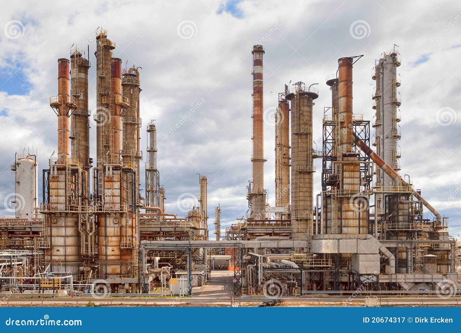 Planta da indústria petroquímica da refinaria de petróleo