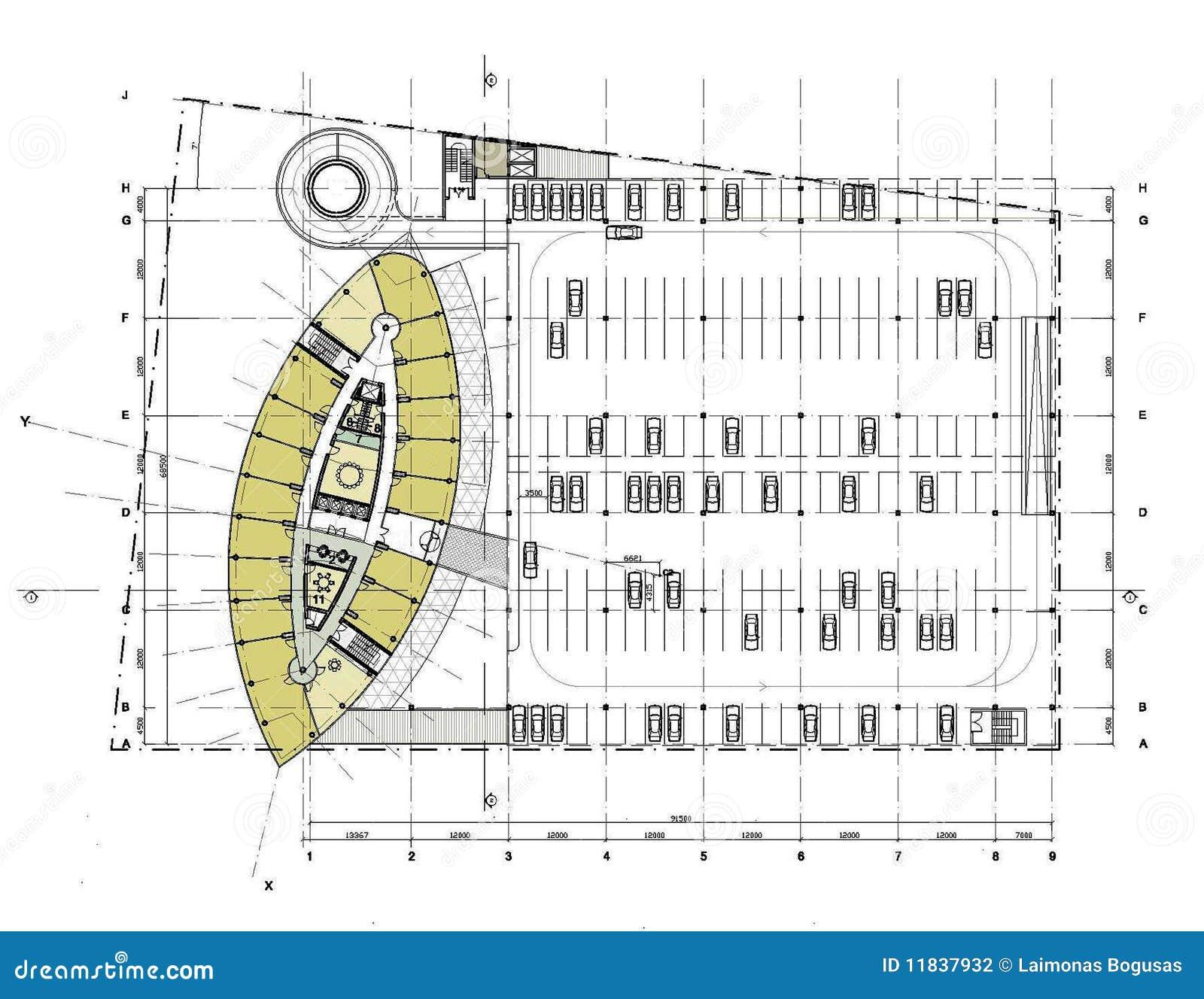 Planta De Assoalho Do Edif 237 Cio Ilustra 231 227 O Stock