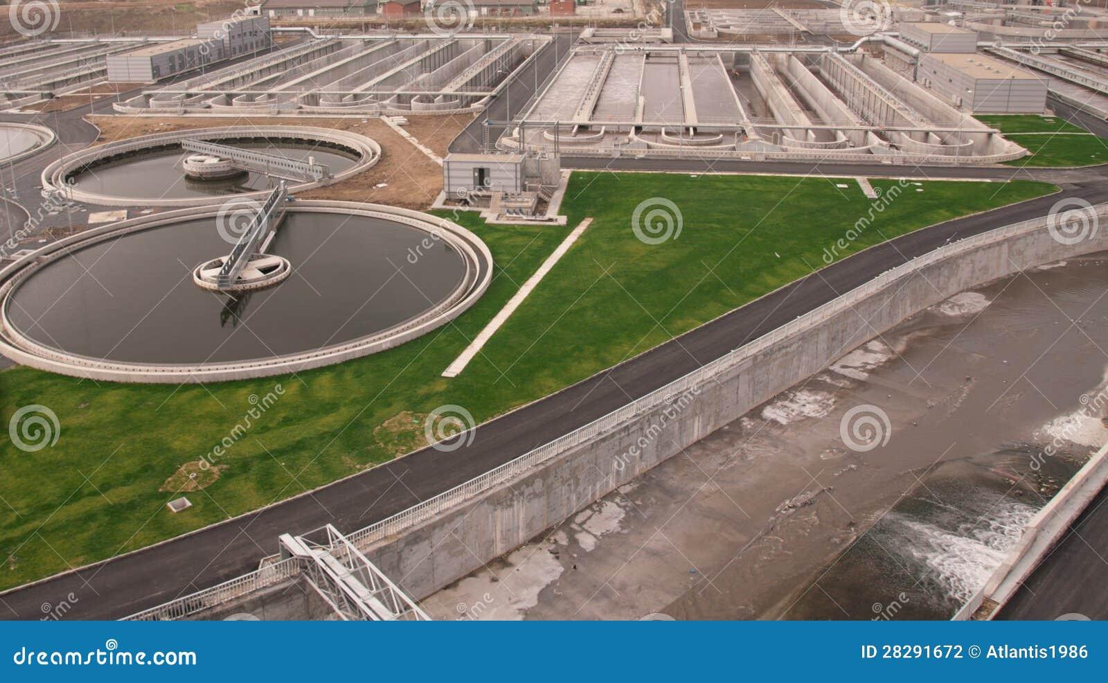 Planta de tratamento de águas residuais biológica