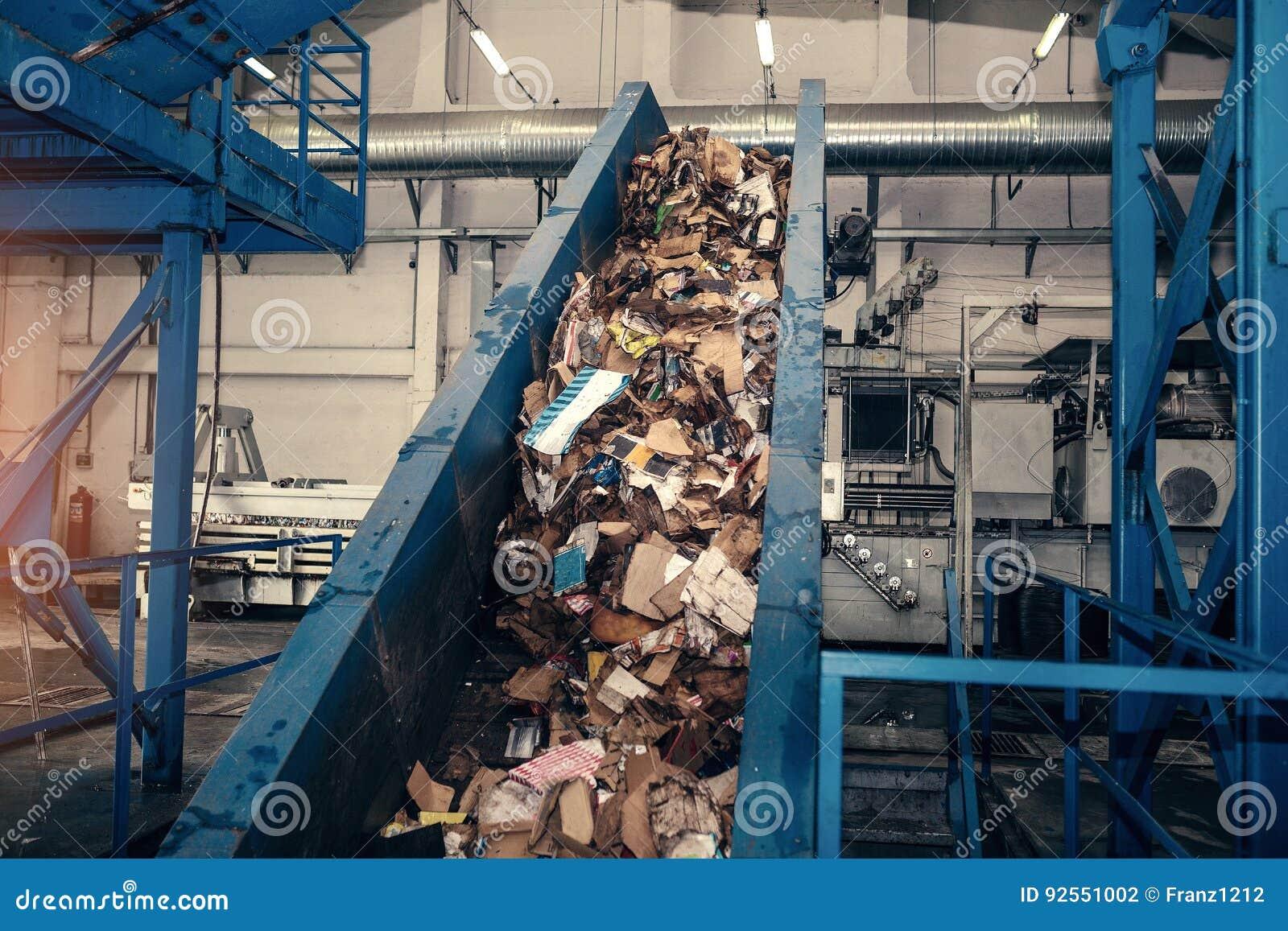 Planta de tratamiento inútil Proceso tecnológico Reciclaje y almacenamiento de la basura para la disposición adicional Negocio pa