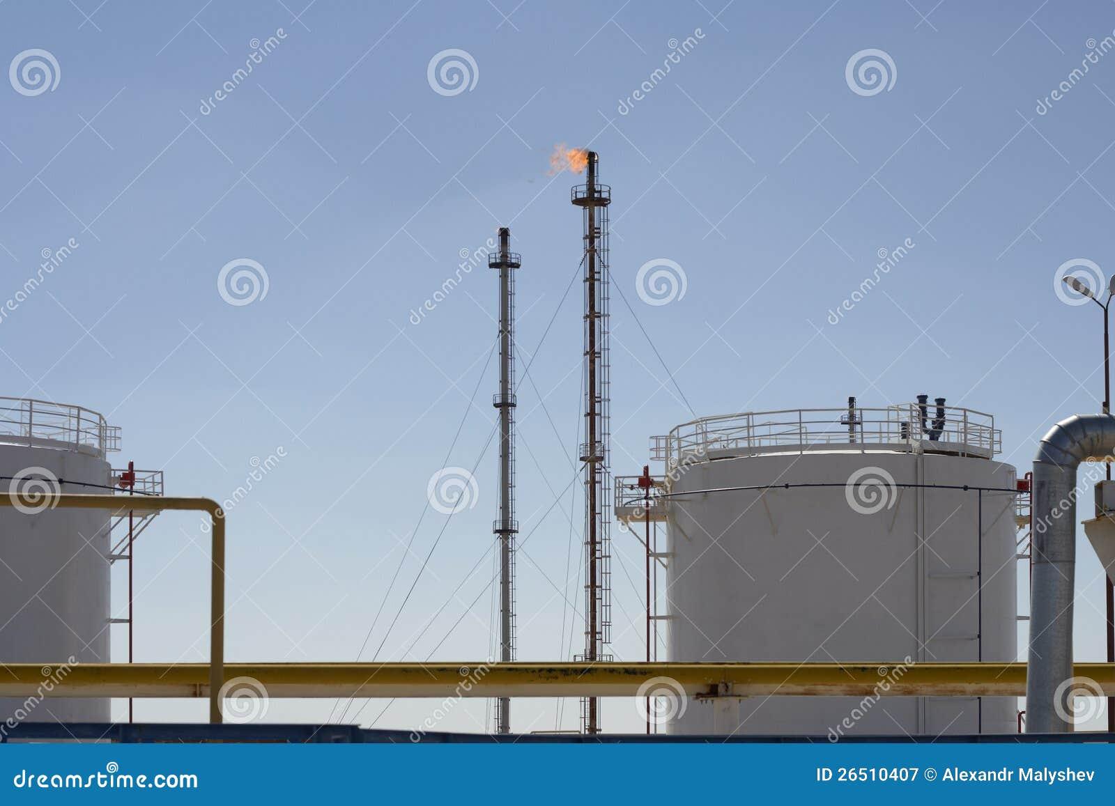 Planta do petroquímico e de gás