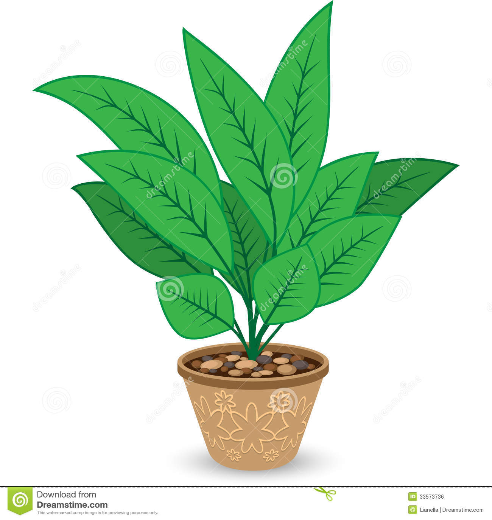 Planta en maceta en blanco ilustraci n del vector for Plantas en macetas