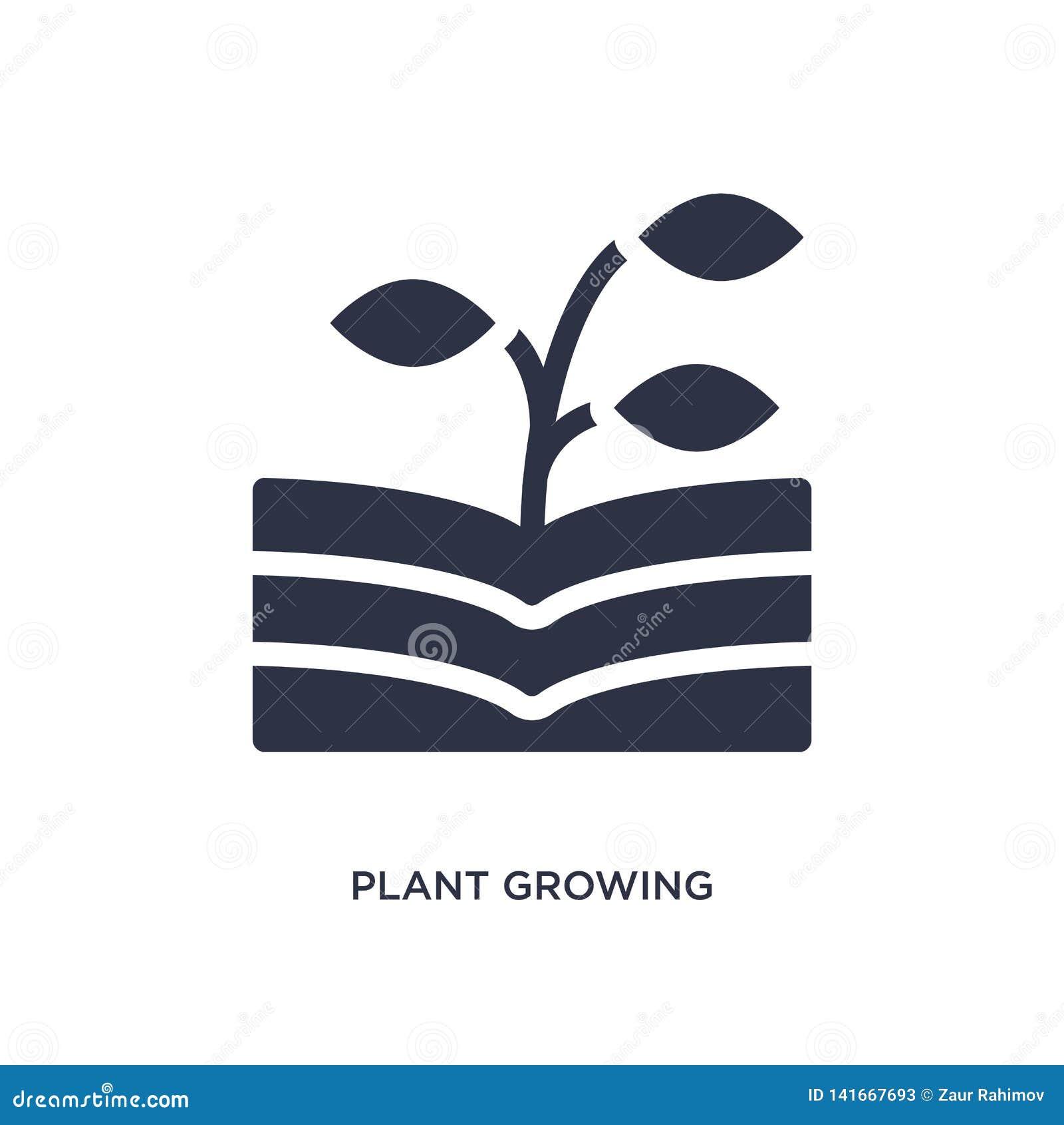 Planta que crece en icono del libro en el fondo blanco Ejemplo simple del elemento del concepto de la naturaleza