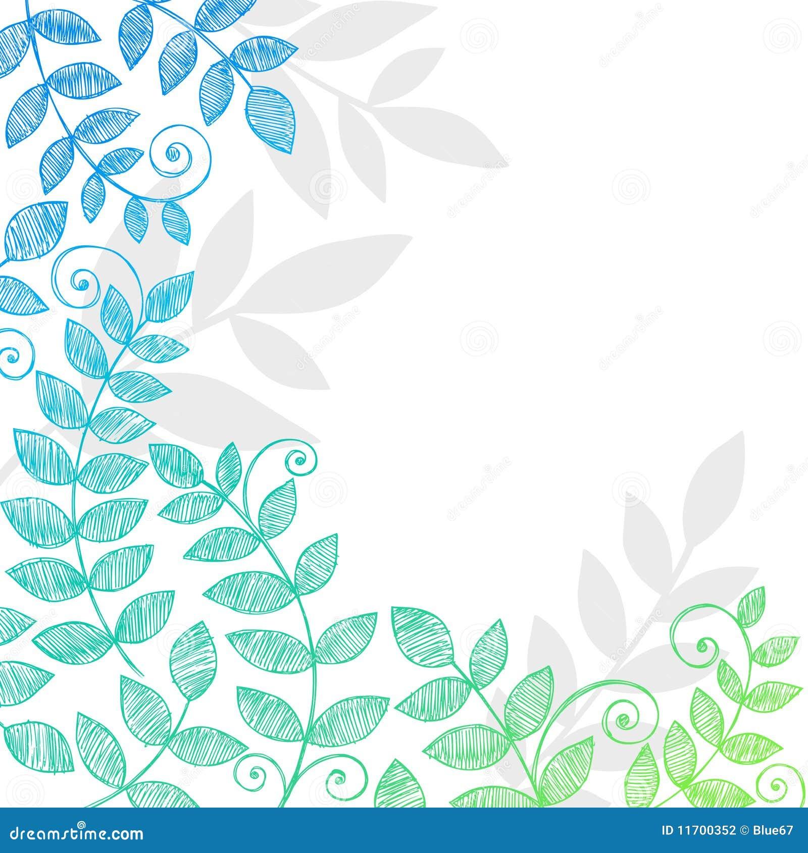 A planta sae folha de Doodles esboçado do caderno