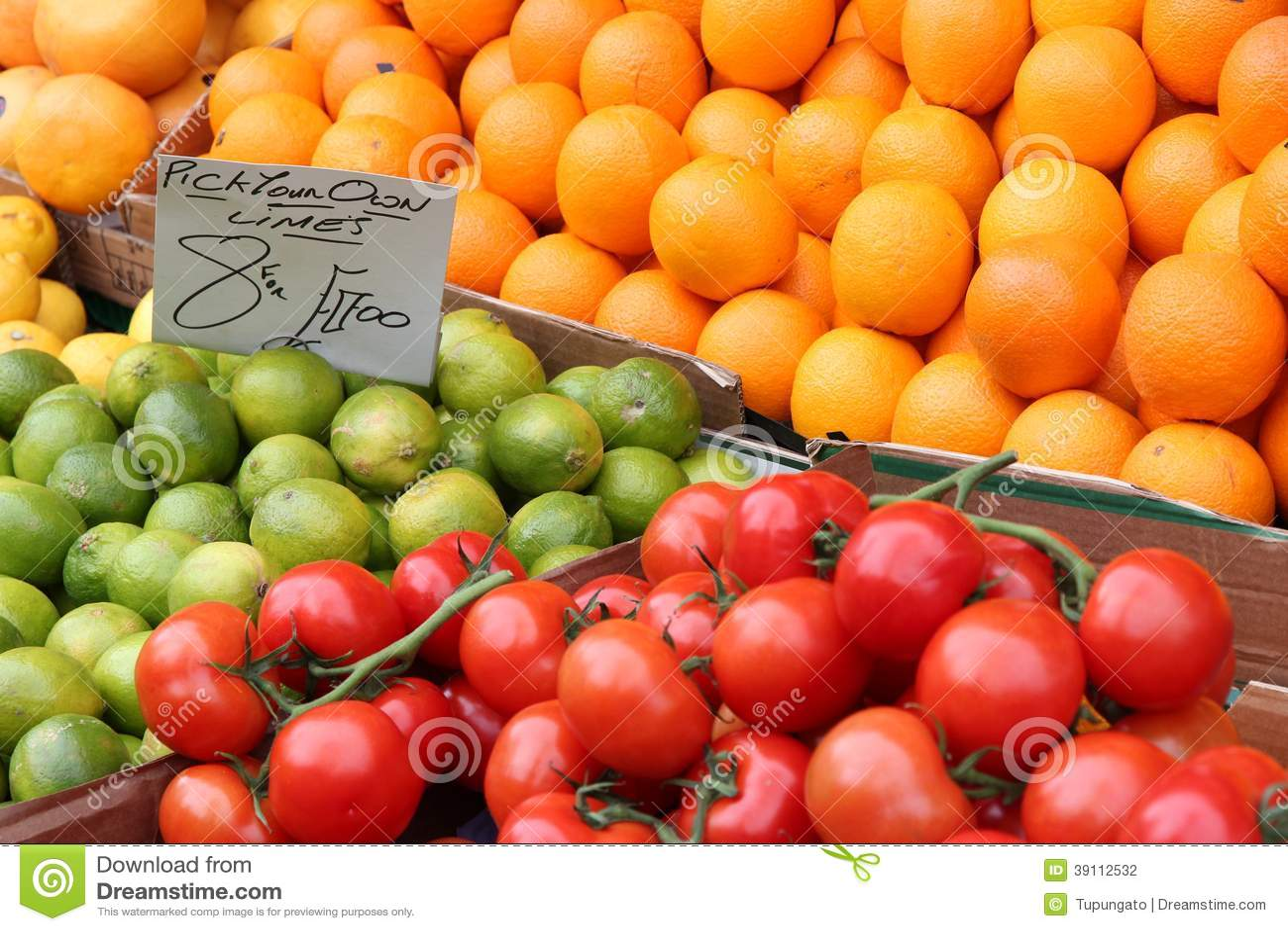 Plantaardige markt