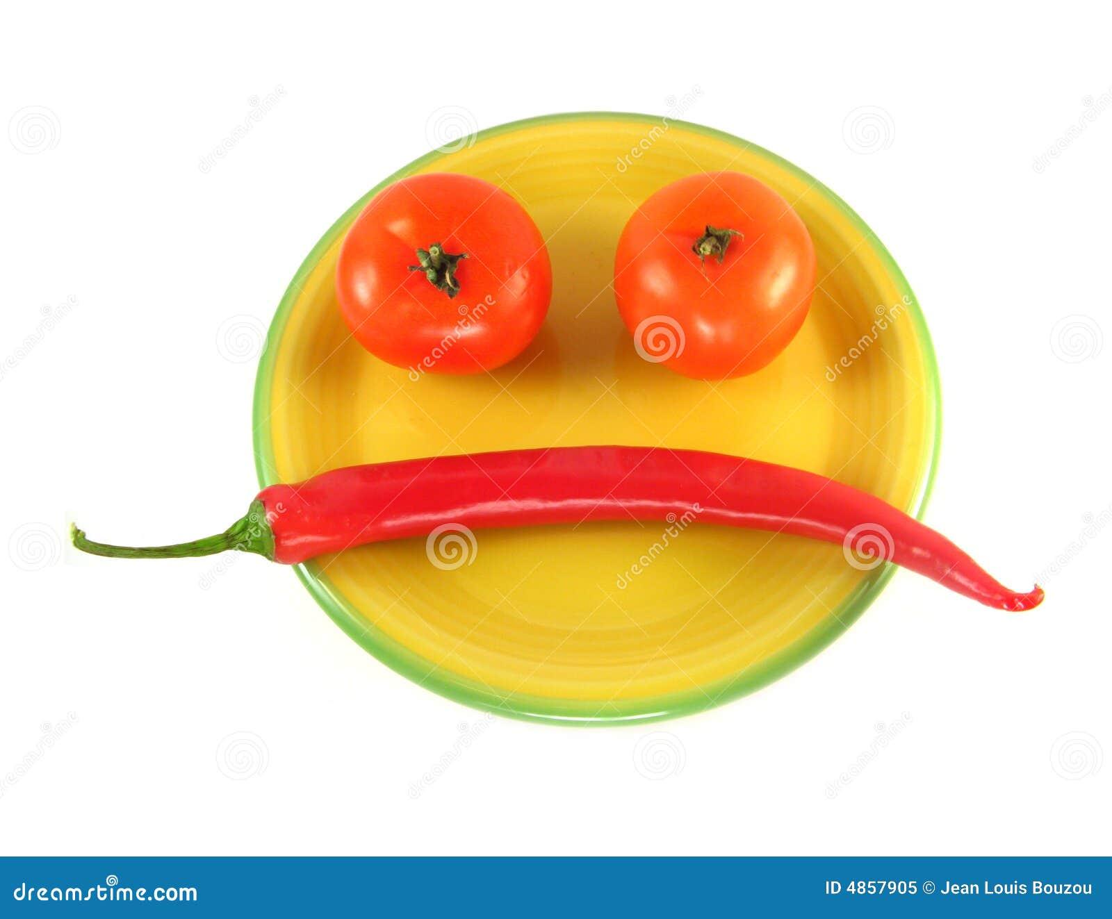 Plantaardige smiley
