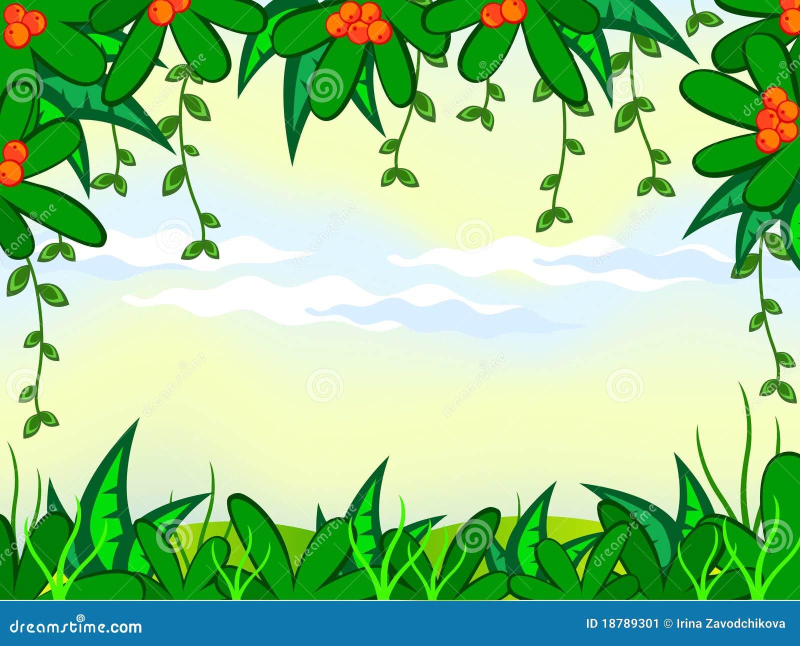 Plantas de la selva ilustraci n del vector ilustraci n de - Marcos para plantas ...