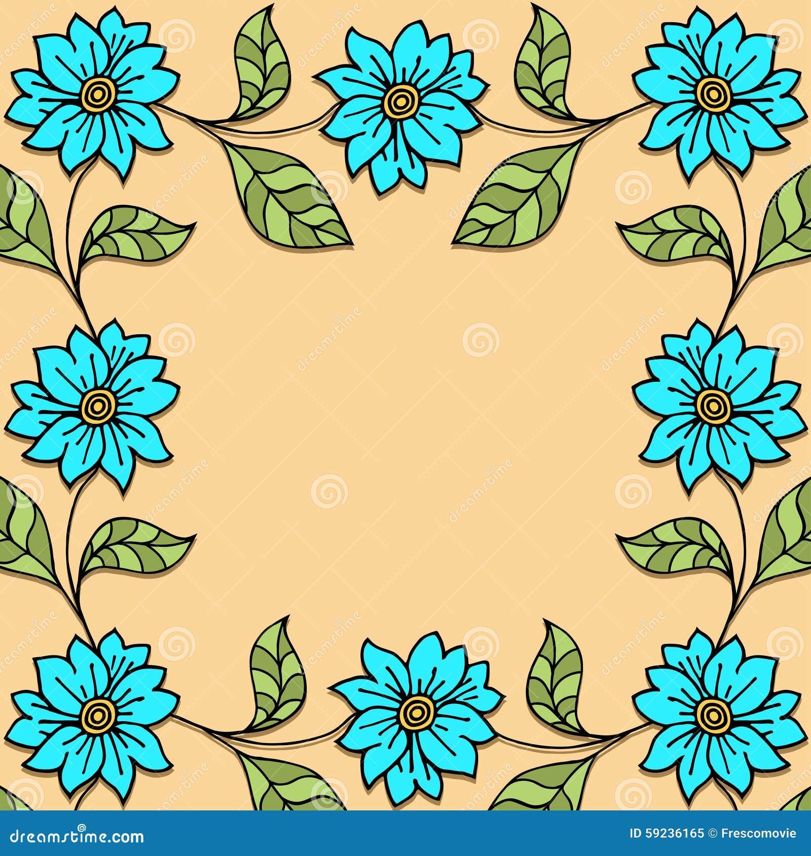 Download Plantas y flores ilustración del vector. Ilustración de doodle - 59236165