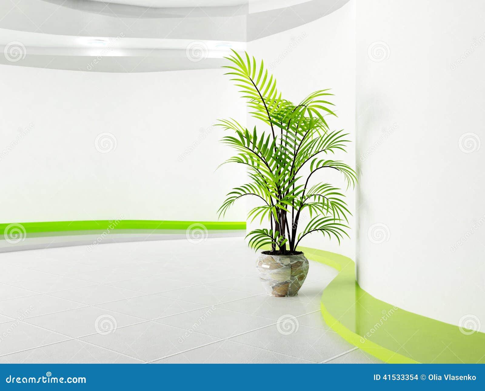 Plante Verte Dans La Chambre Illustration Stock