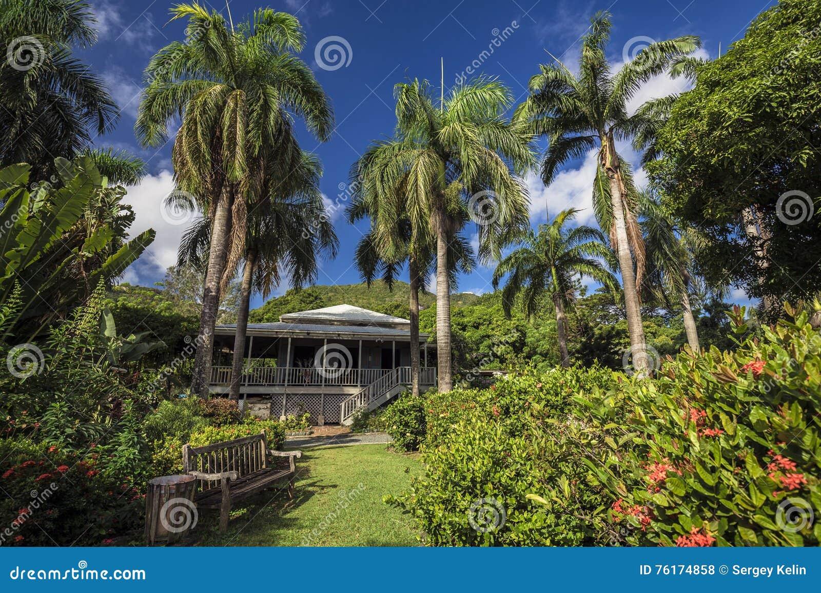 Planter house in botanic garden. Road Town, Tortola