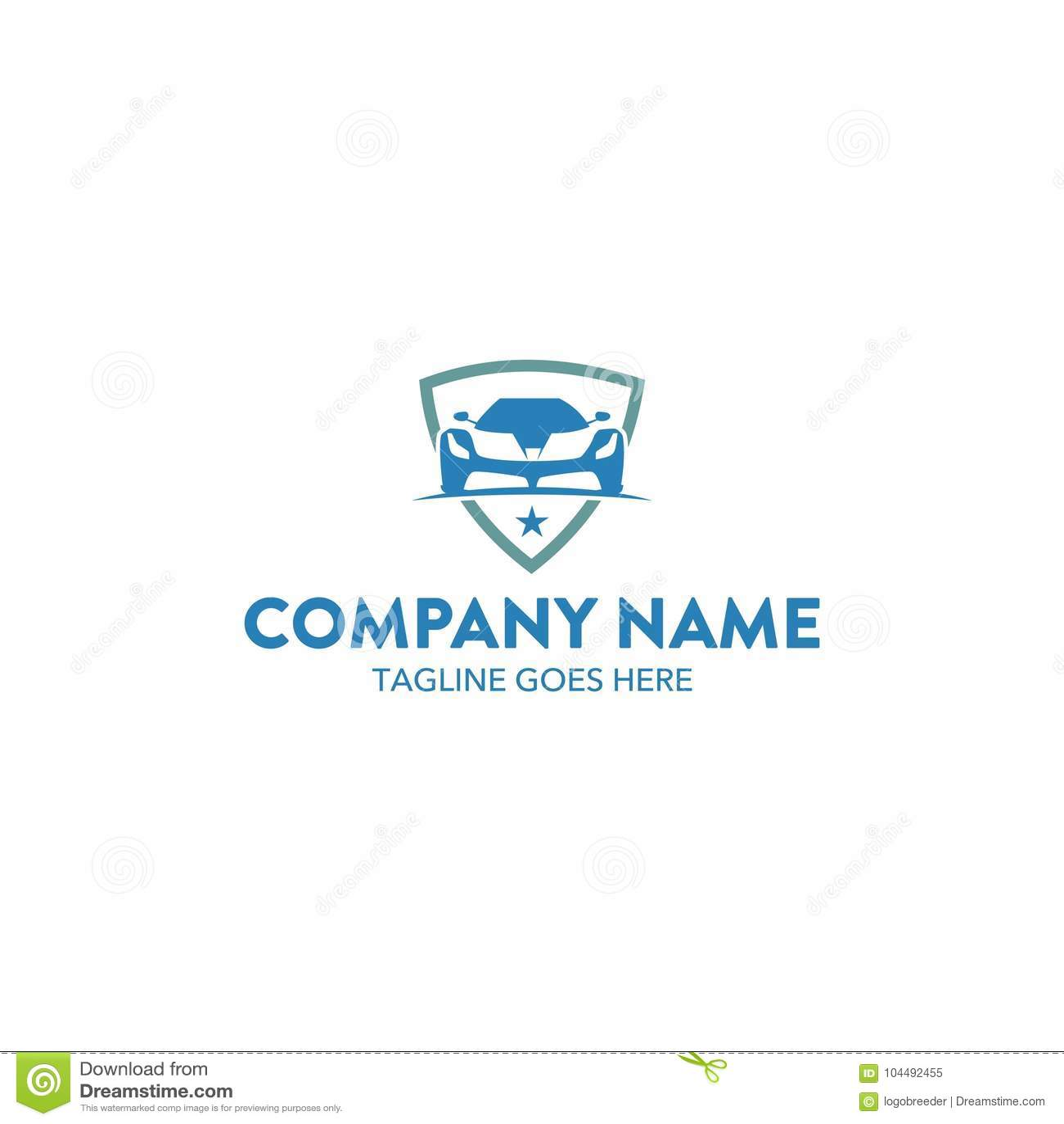 Plantilla única Del Logotipo Del Coche Vector Editable Imagen de ...