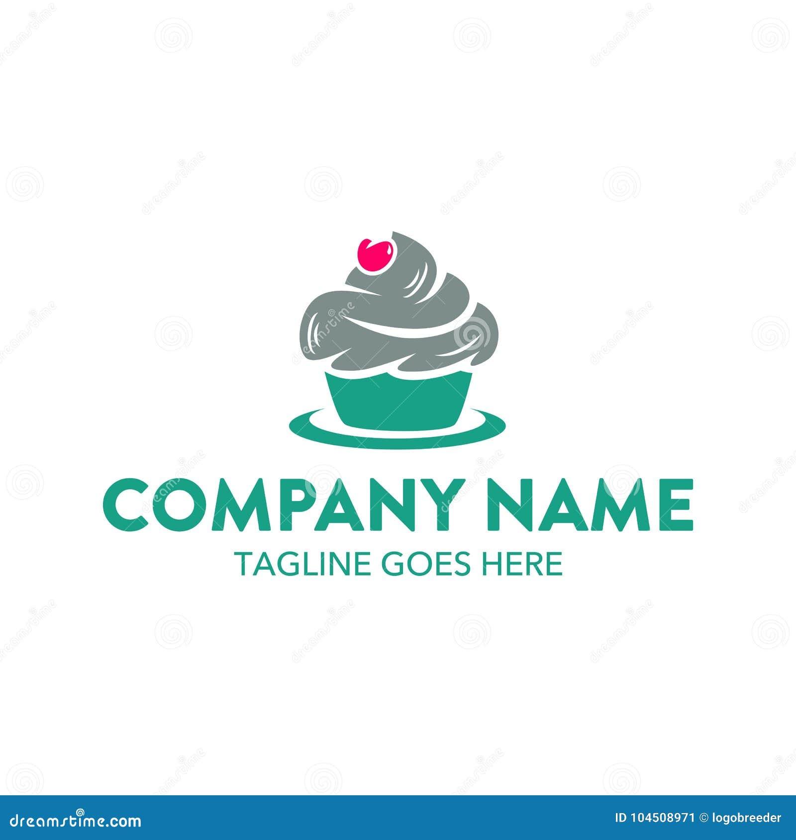 Plantilla única del logotipo de la torta y de las galletas Vector editable
