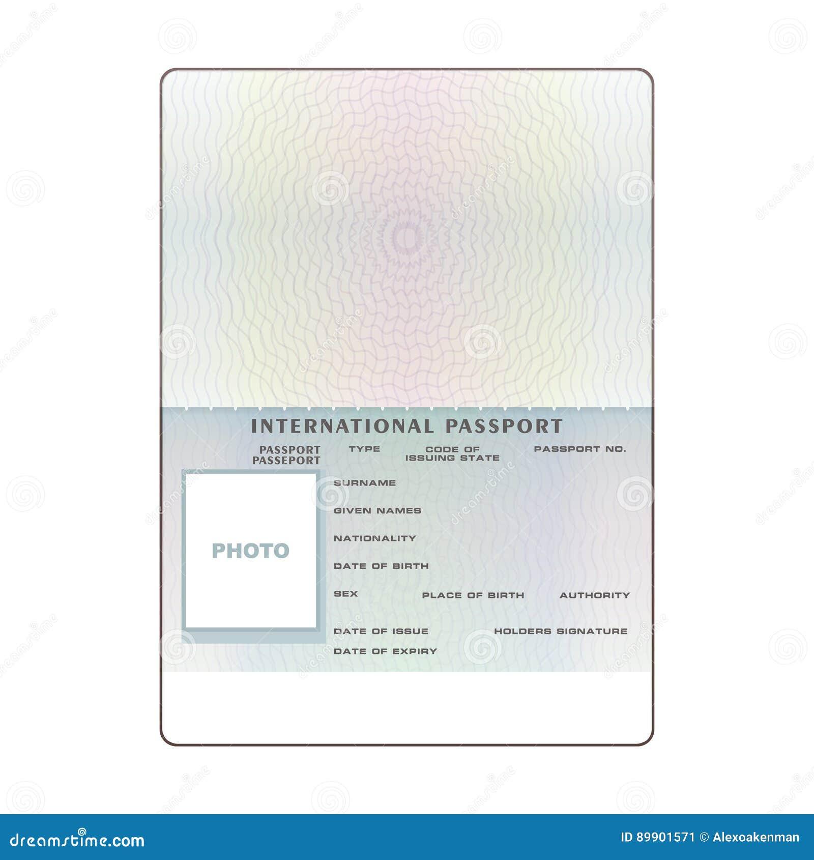 Magnífico Pasaporte De La Plantilla Motivo - Ejemplo De Colección De ...