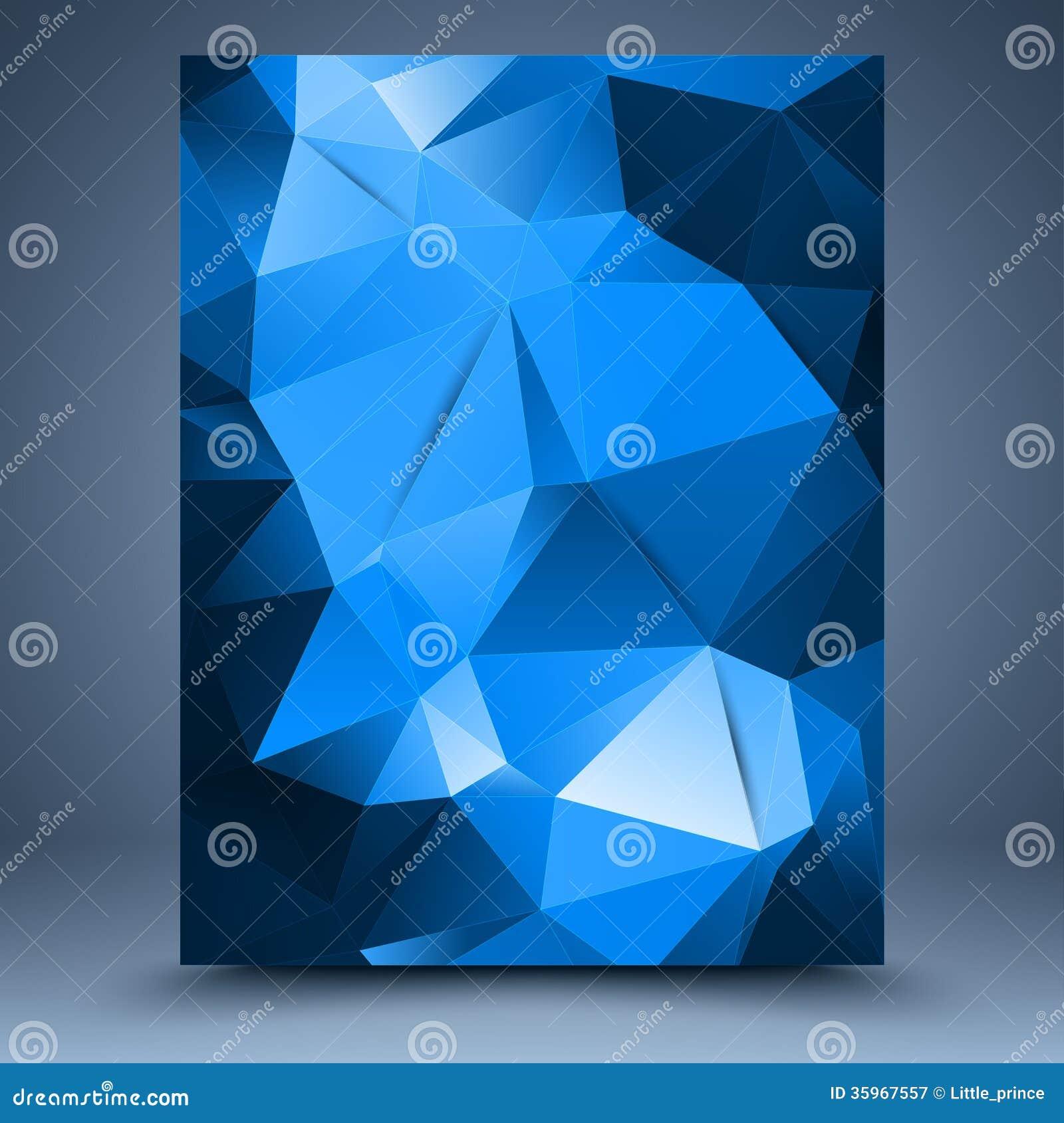 Plantilla abstracta azul