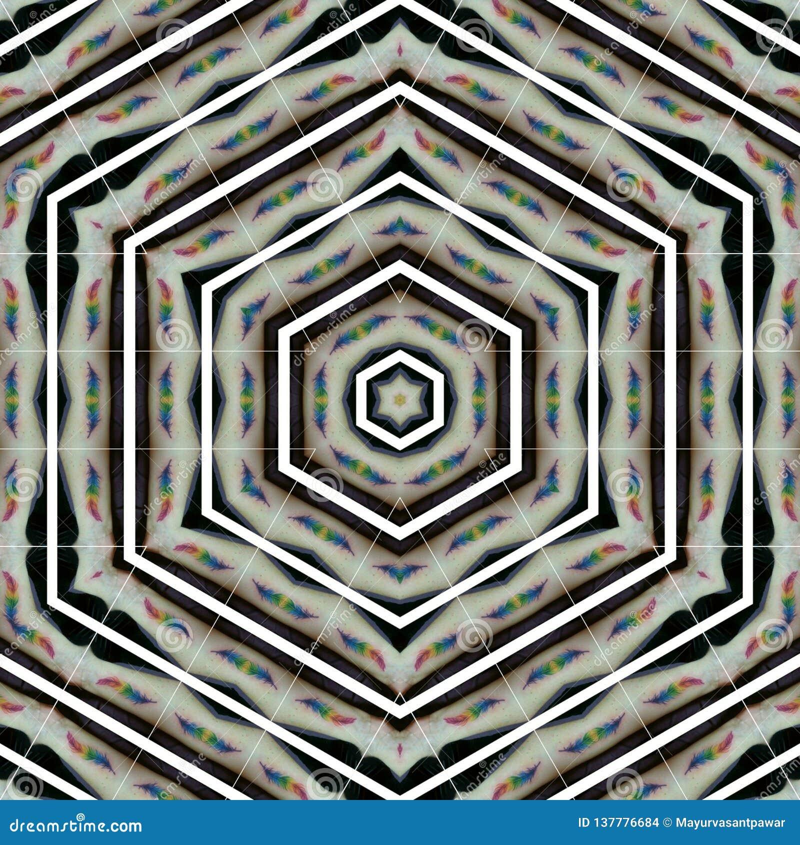 Plantilla abstracta del diseño de la mandala