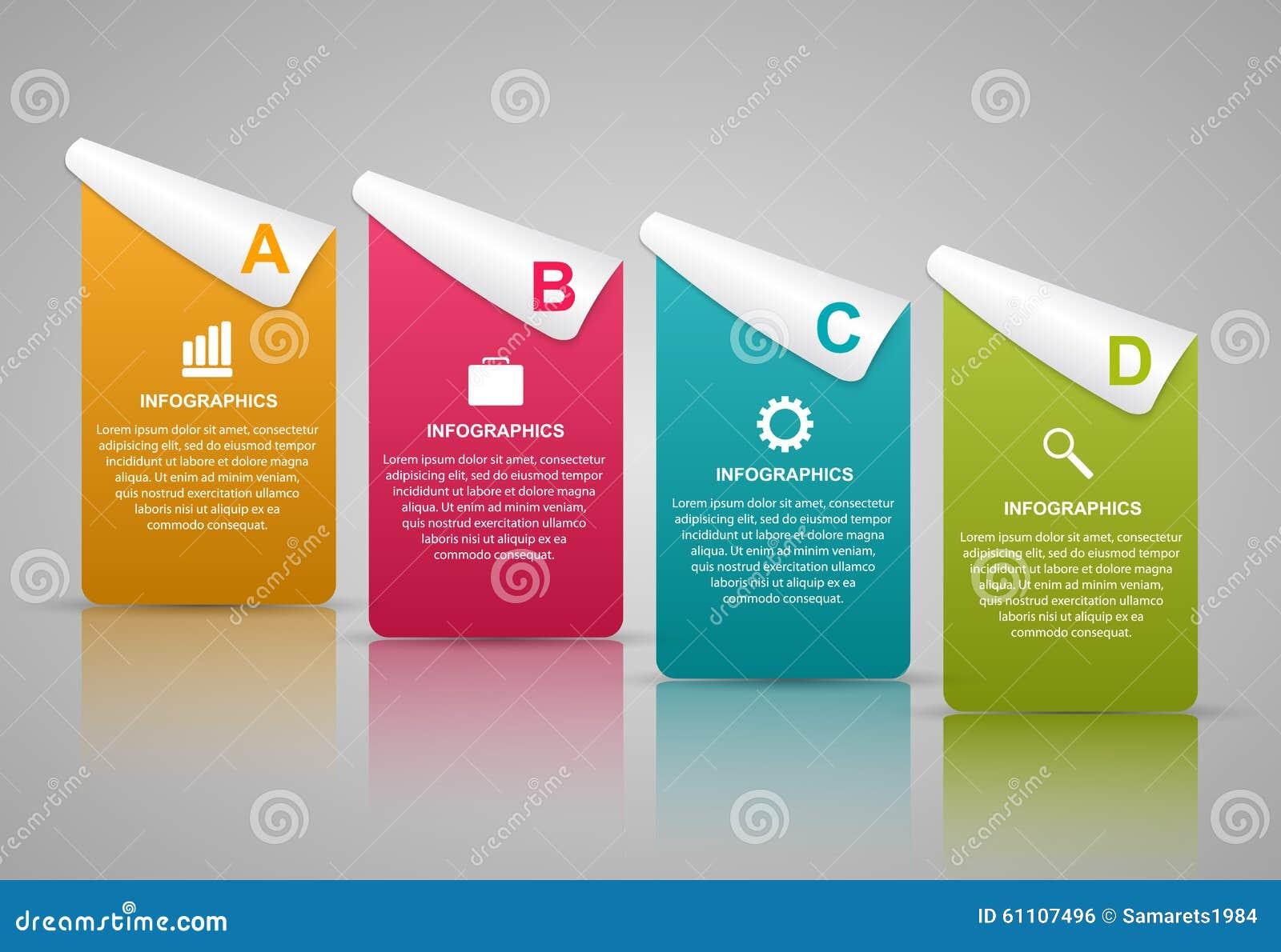 Plantilla abstracta del infographics de las opciones del negocio 3D