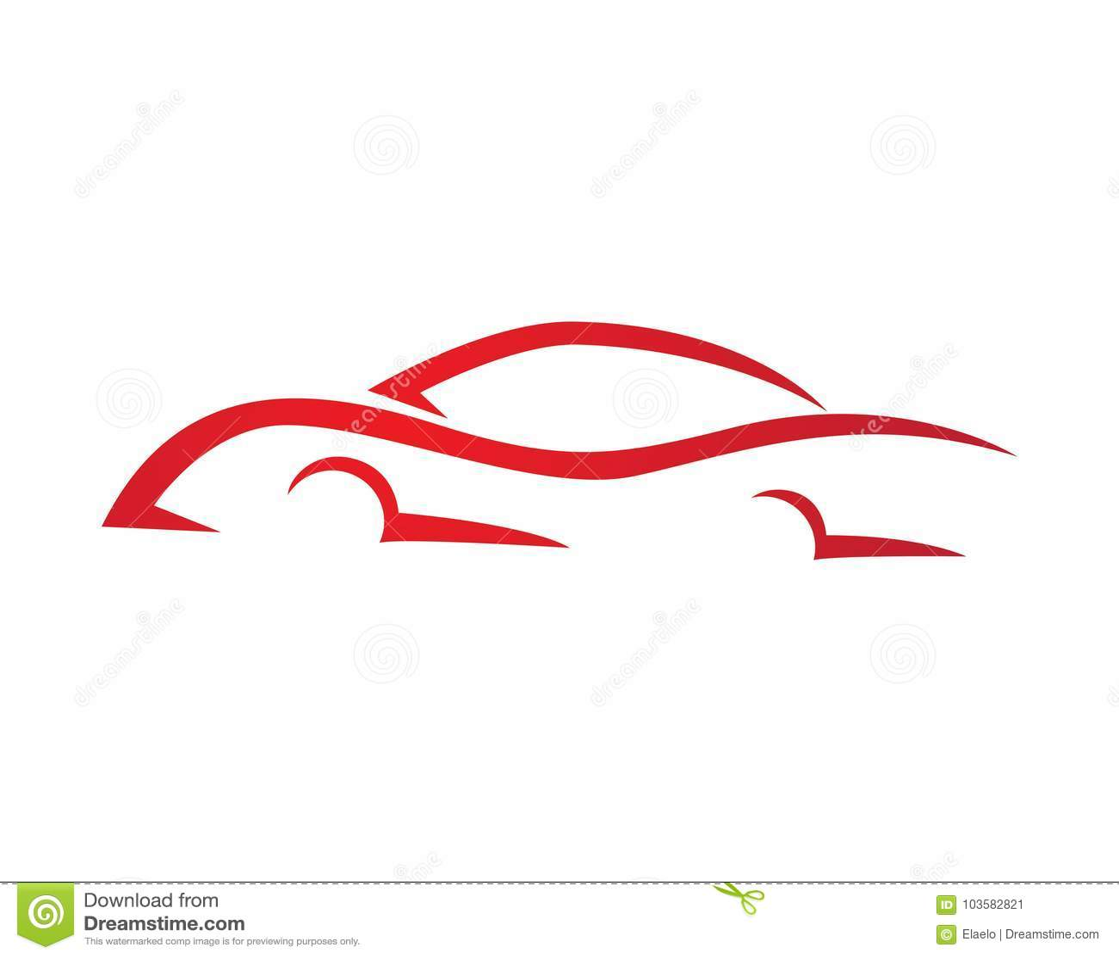 Plantilla Auto Del Logotipo Del Coche De La Velocidad Stock de ...