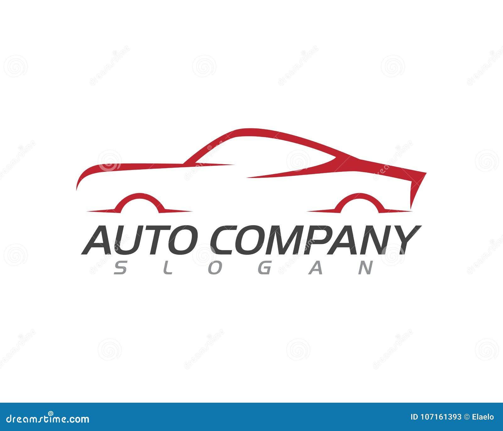 Plantilla Auto Del Logotipo Del Coche De La Velocidad Ilustración ...