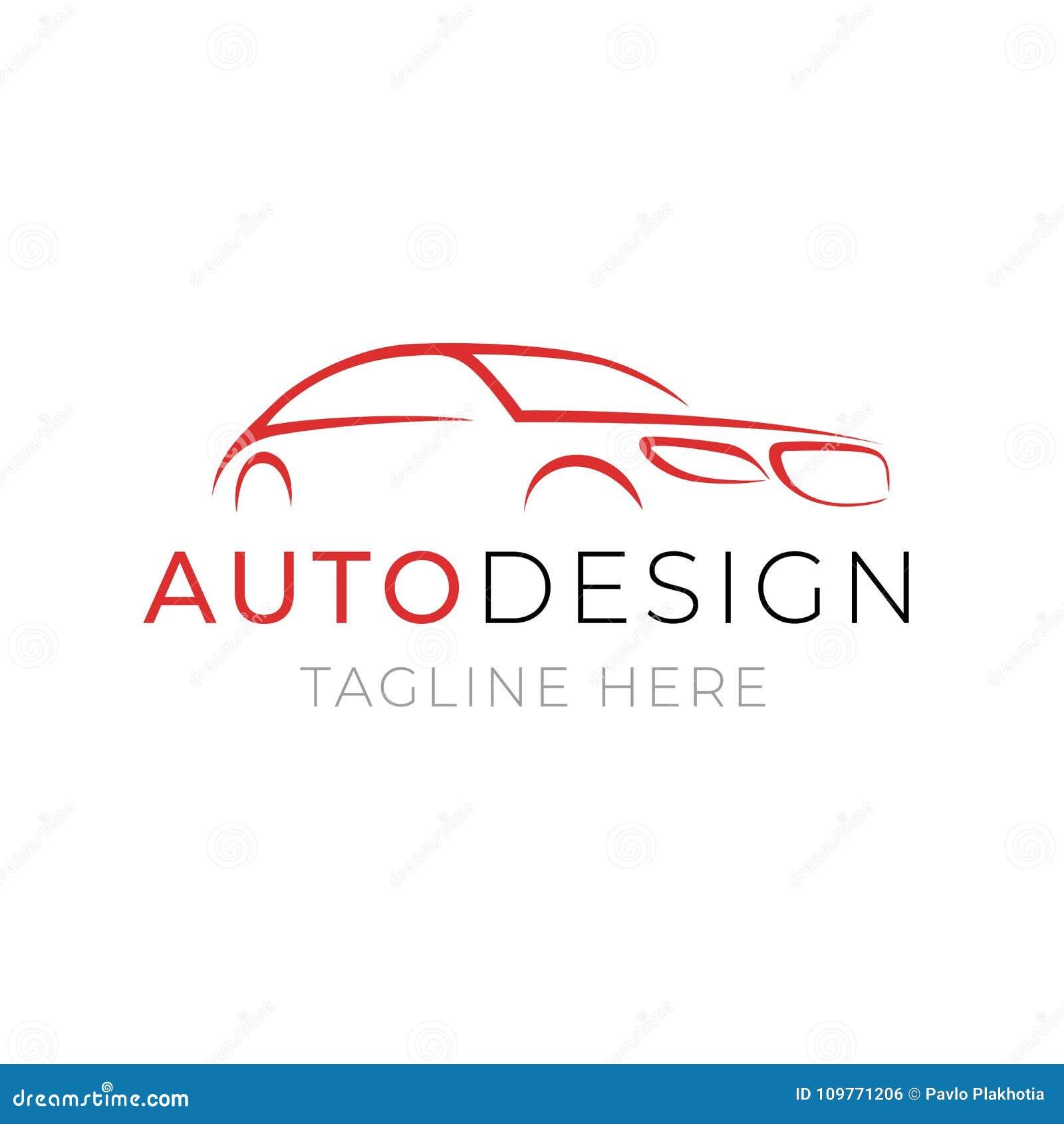 Plantilla Auto Del Logotipo Diseño Del Servicio Del Coche O Del ...